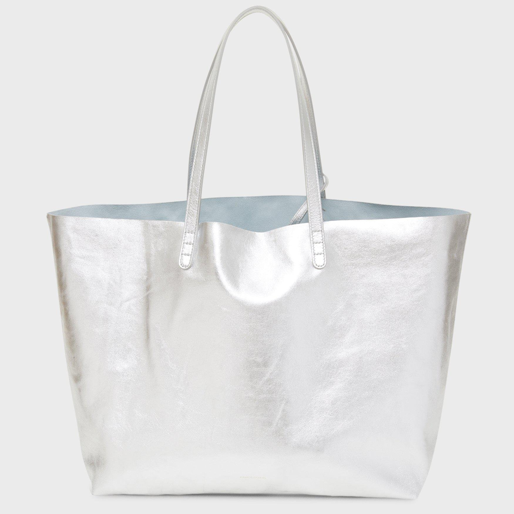 Oversized Tote - Silver