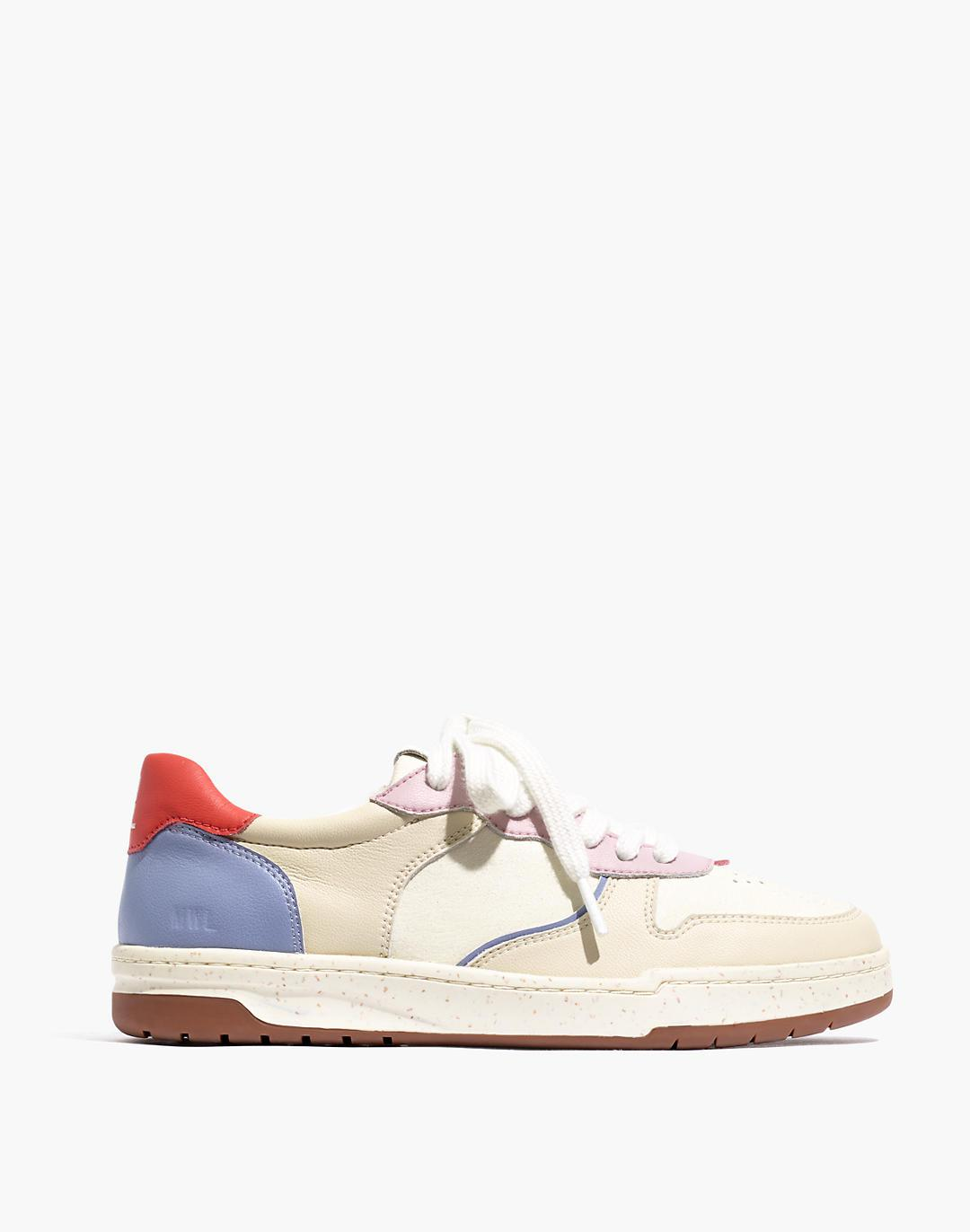Court Sneakers in Colorblock Leather and Nubuck 1