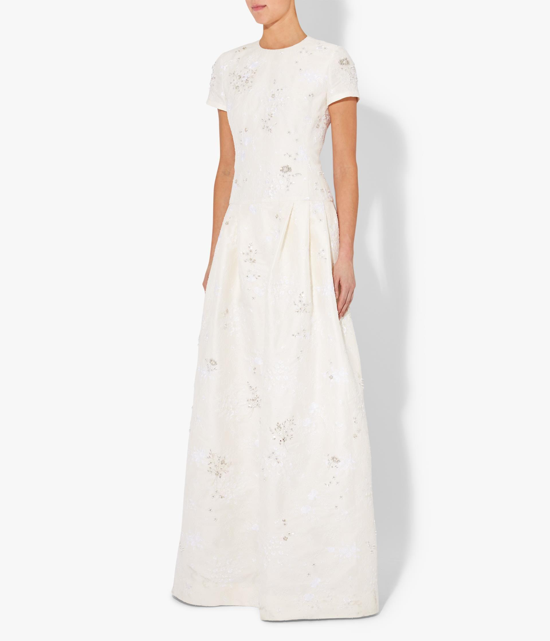 Alphonse Gown Crystal Embellished Chantilly Lace