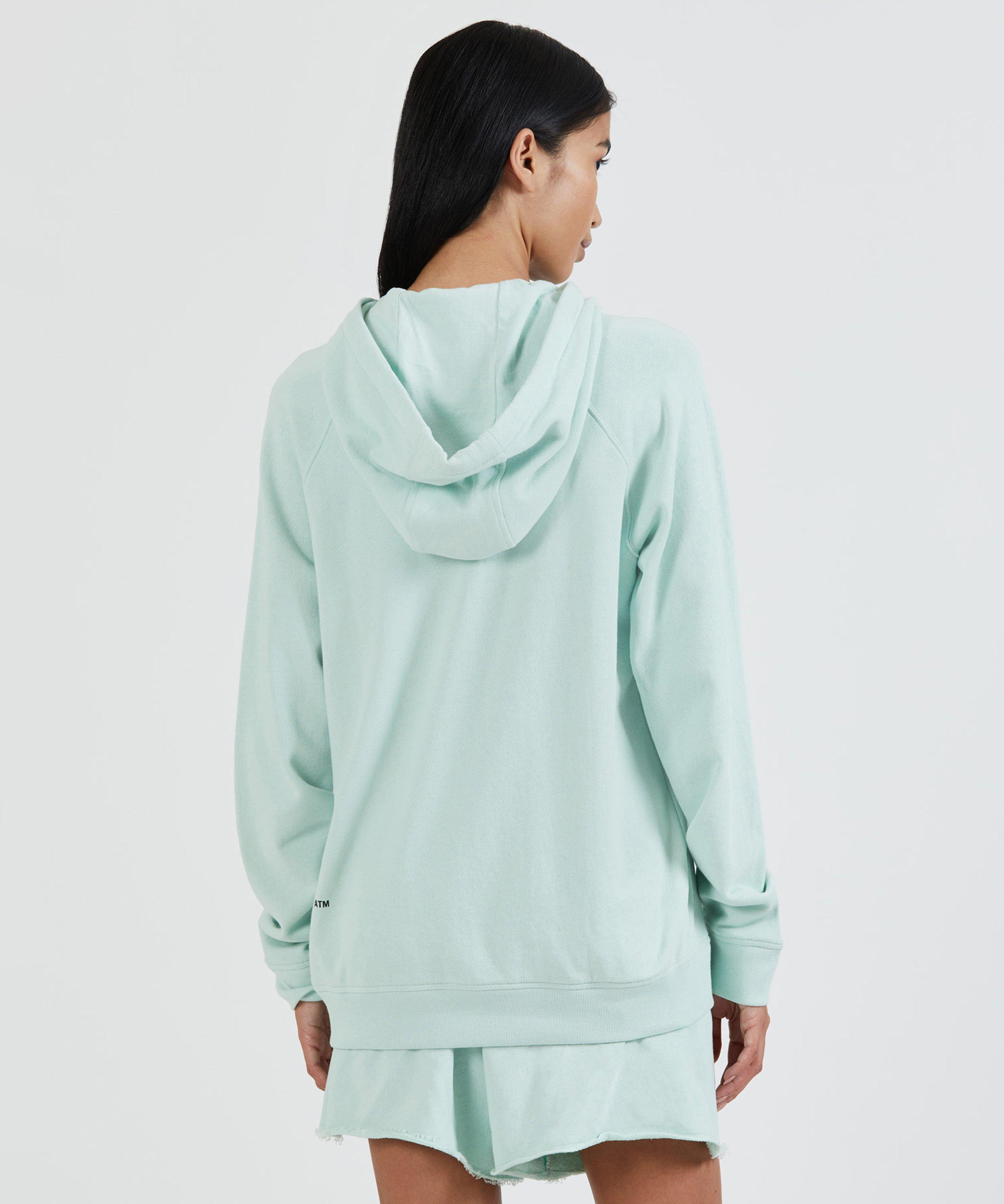 French Terry Pull-Over Hoodie - Mint 1