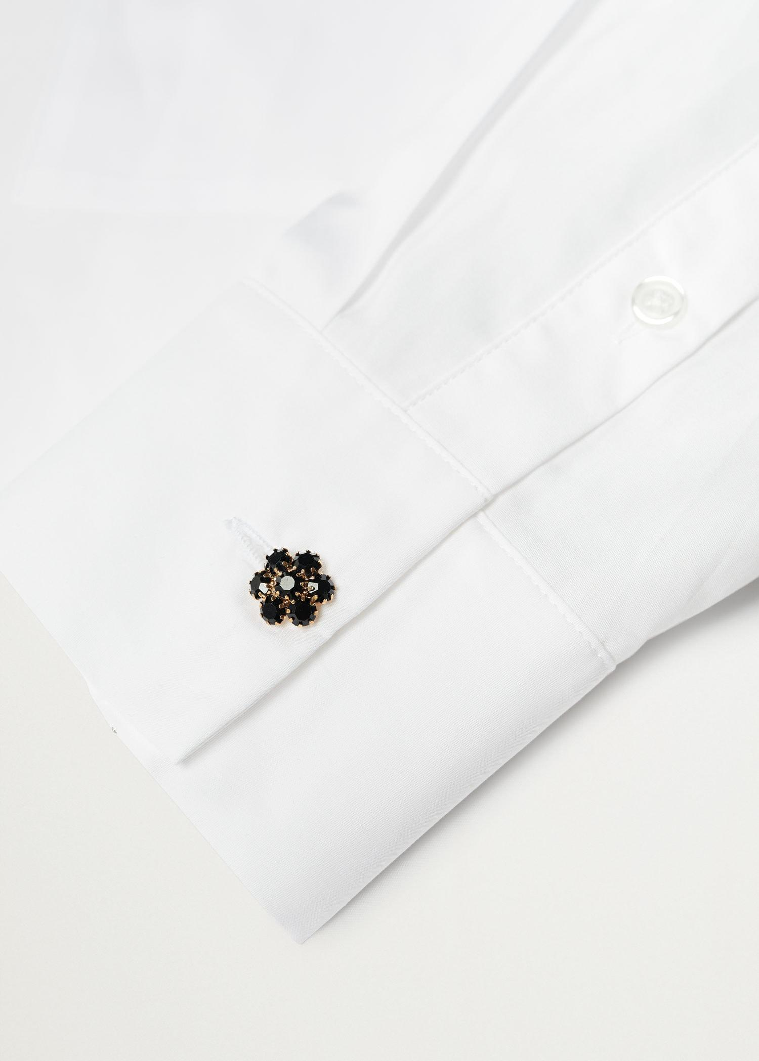 Cotton shirt with jewel buttons 6