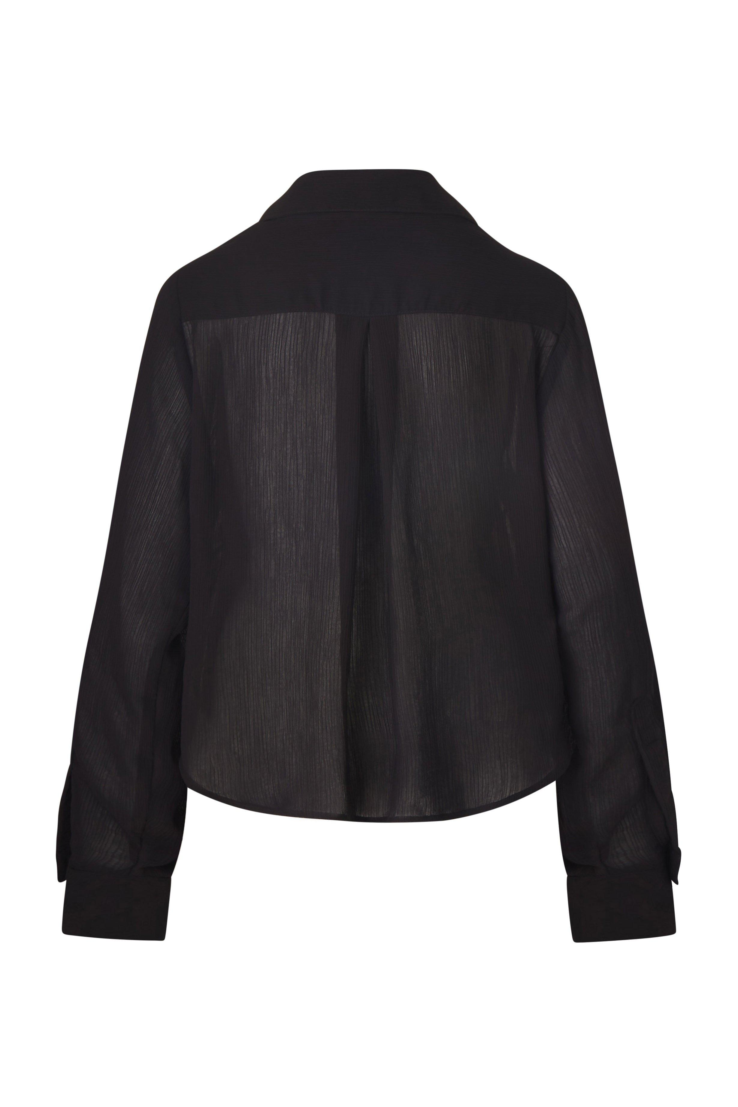The Phillips Long Sleeve Button-Down Shirt in Sheer Yoryu Crinkle 4
