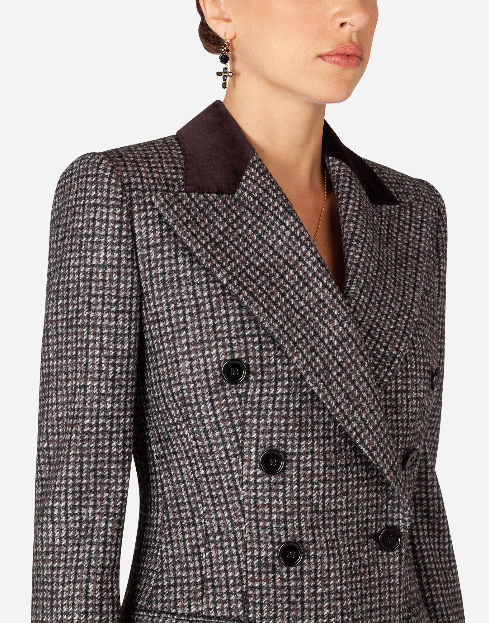 Double-breasted tweed blazer 2