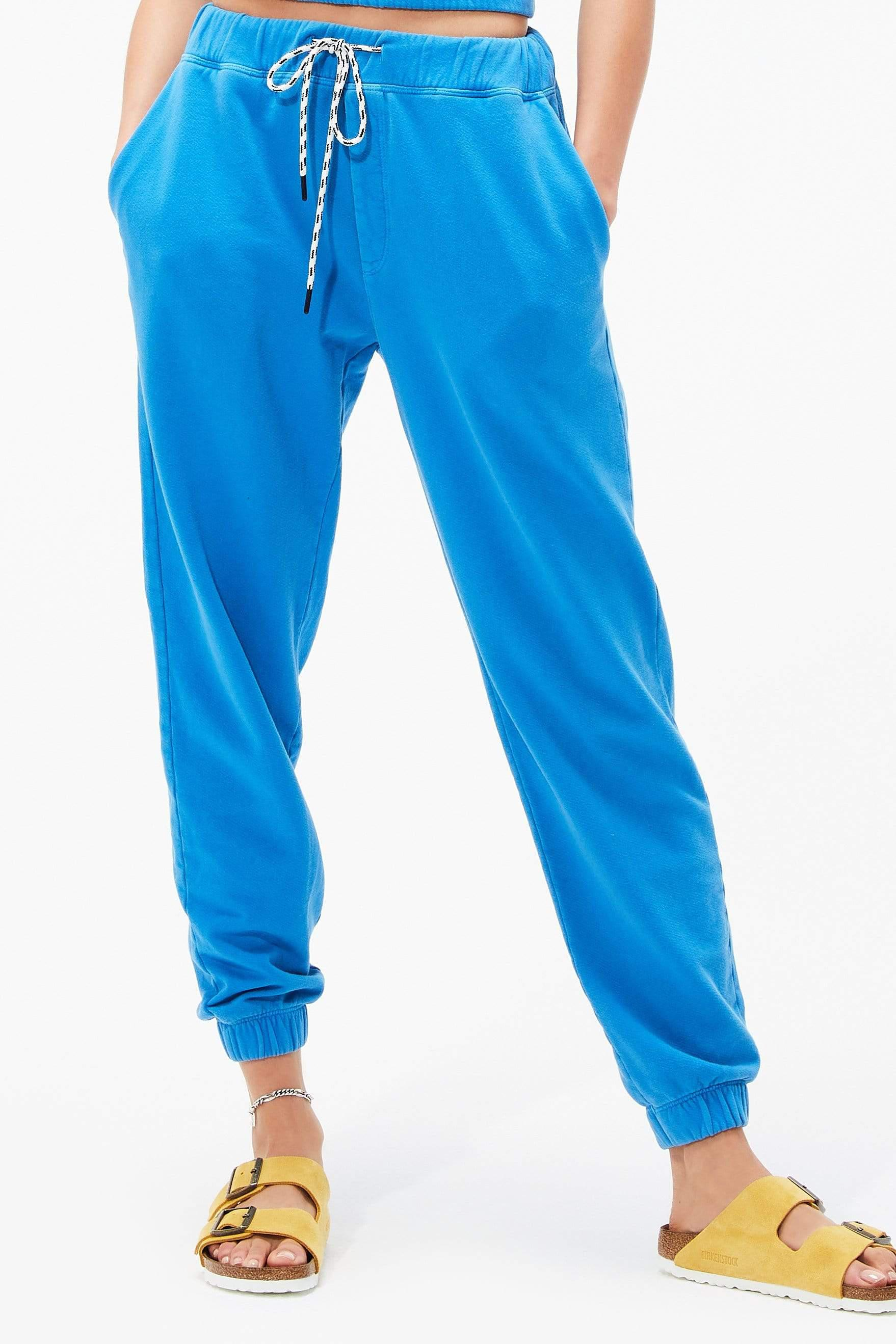 Franky French Terry 7/8 Sweatpant - Persian Blue