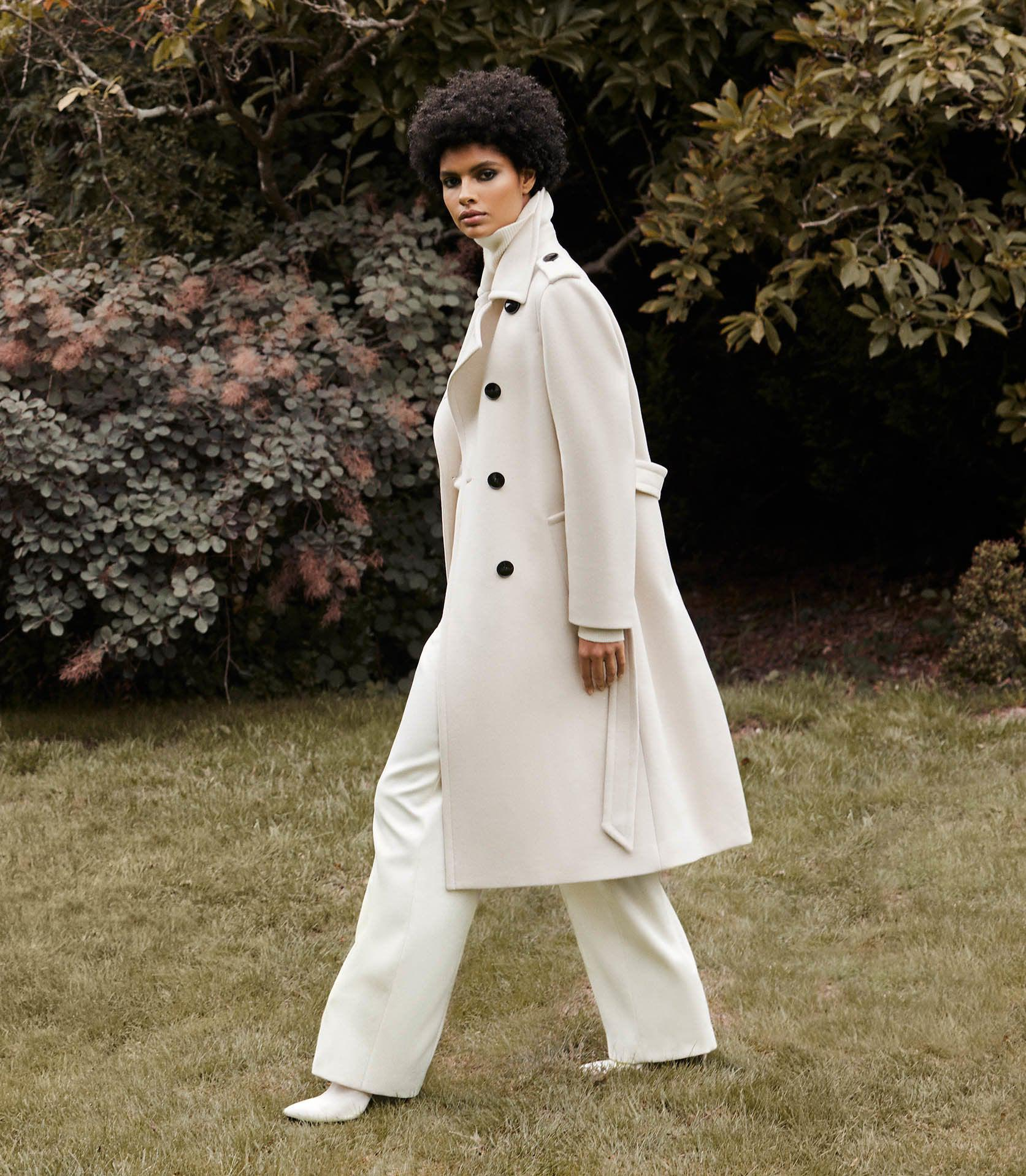 SIAN - WOOL BLEND TRENCH COAT