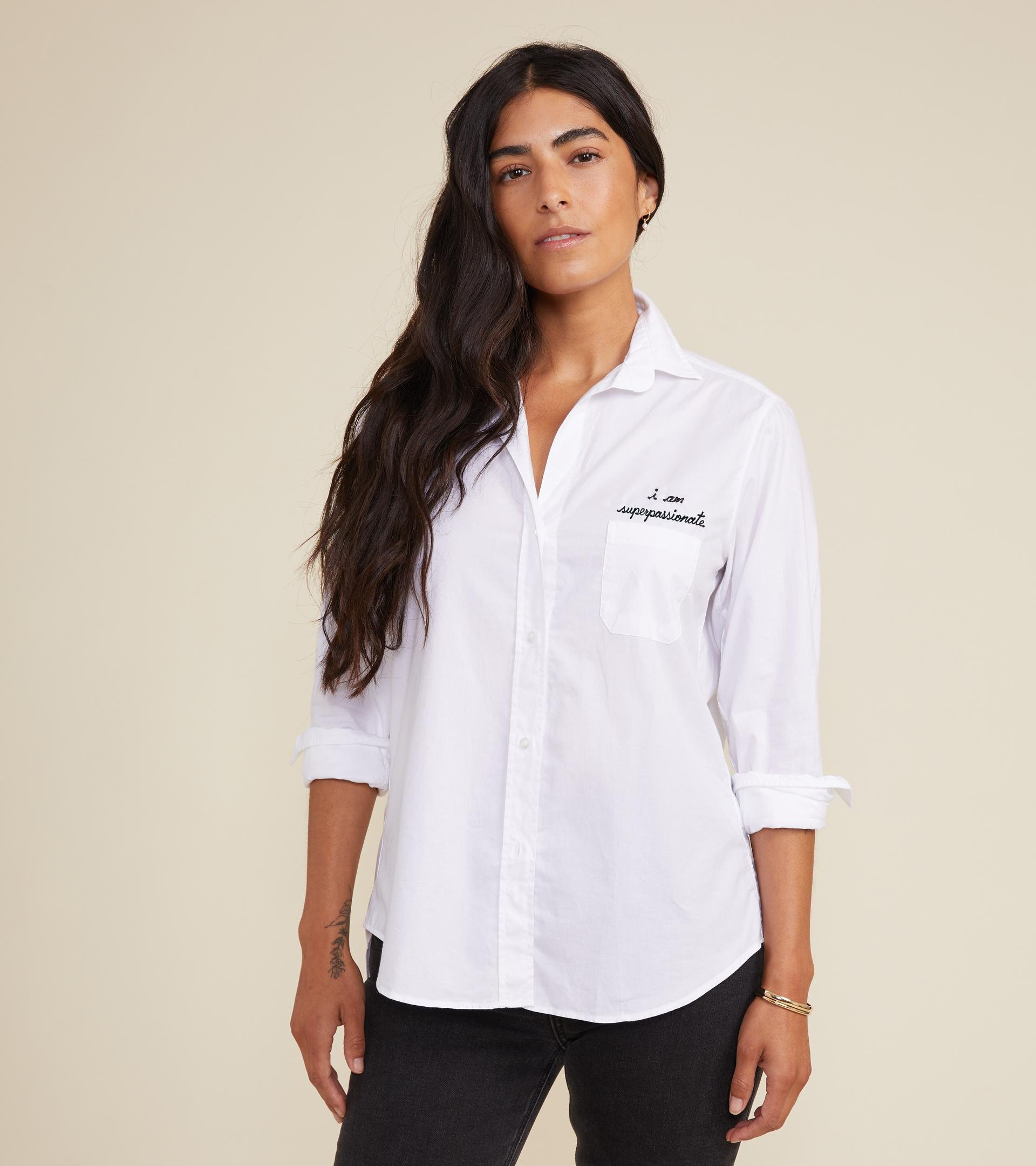 The Hero Button-Up Shirt Passionate, Brushed Cotton