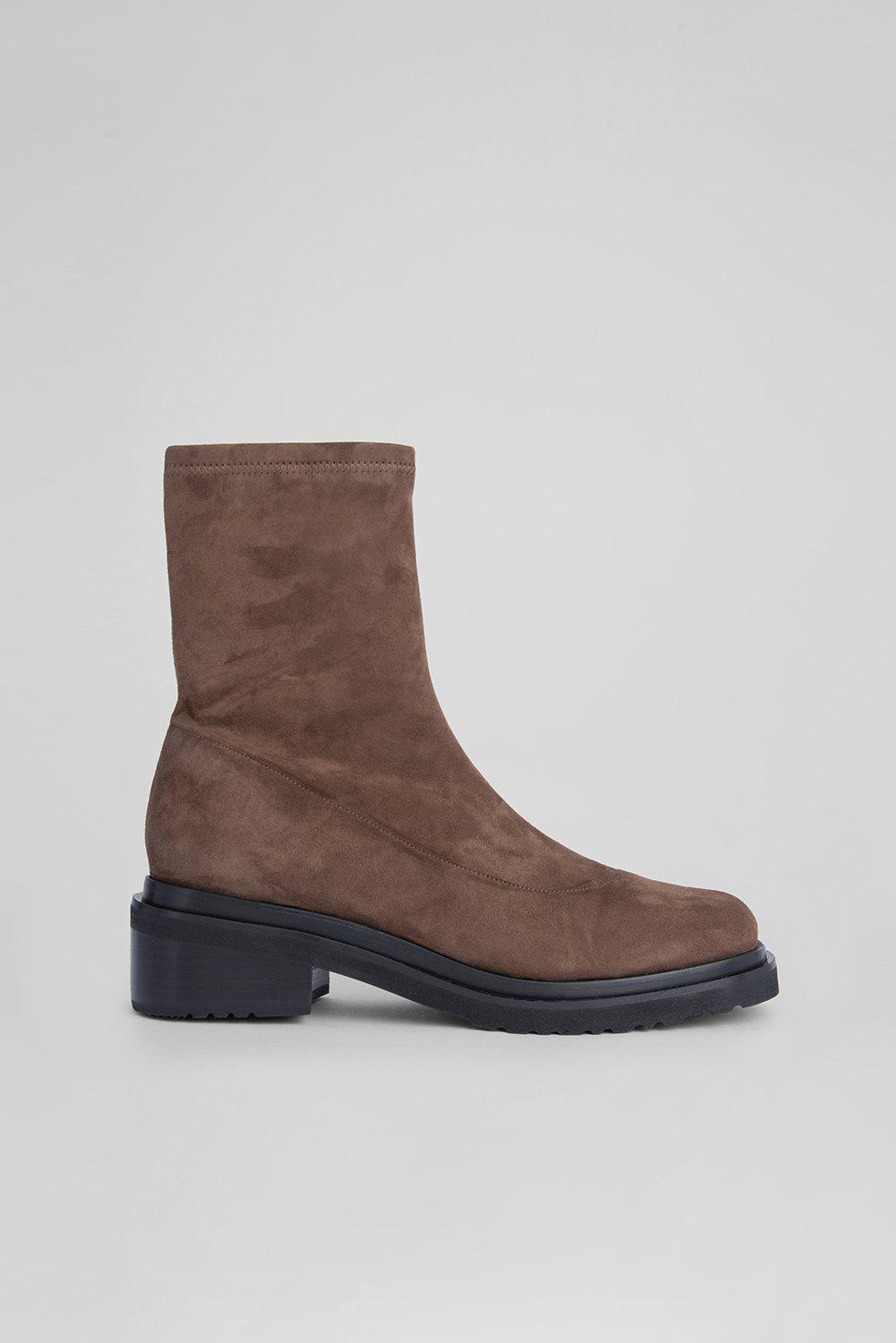Kah Wood Stretch Suede Leather