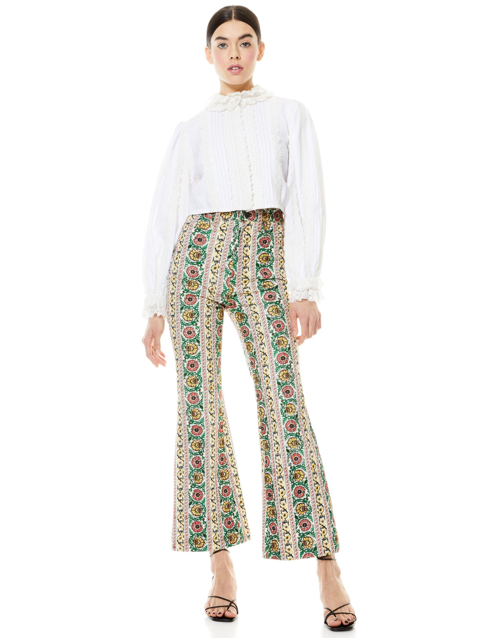 BENEDICT EMBROIDERED FLARE PANT 3