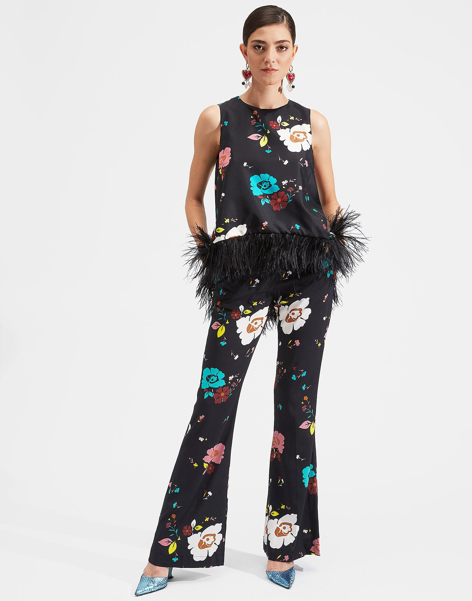 La Scala Top (With Feathers)