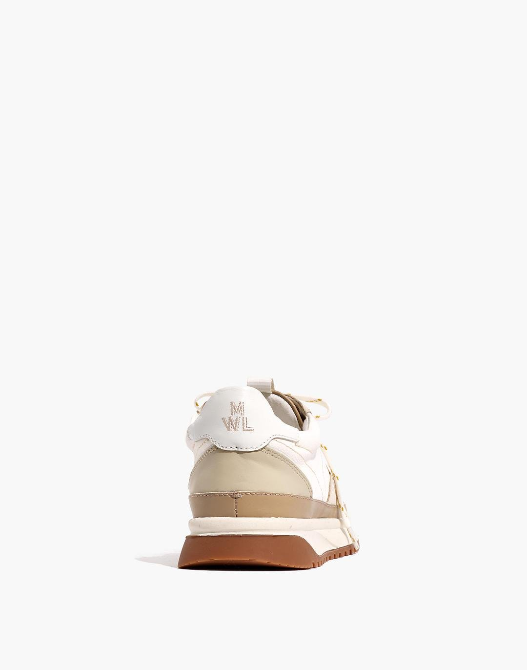 Kickoff Trainer Sneakers in Neutral Colorblock Leather 2