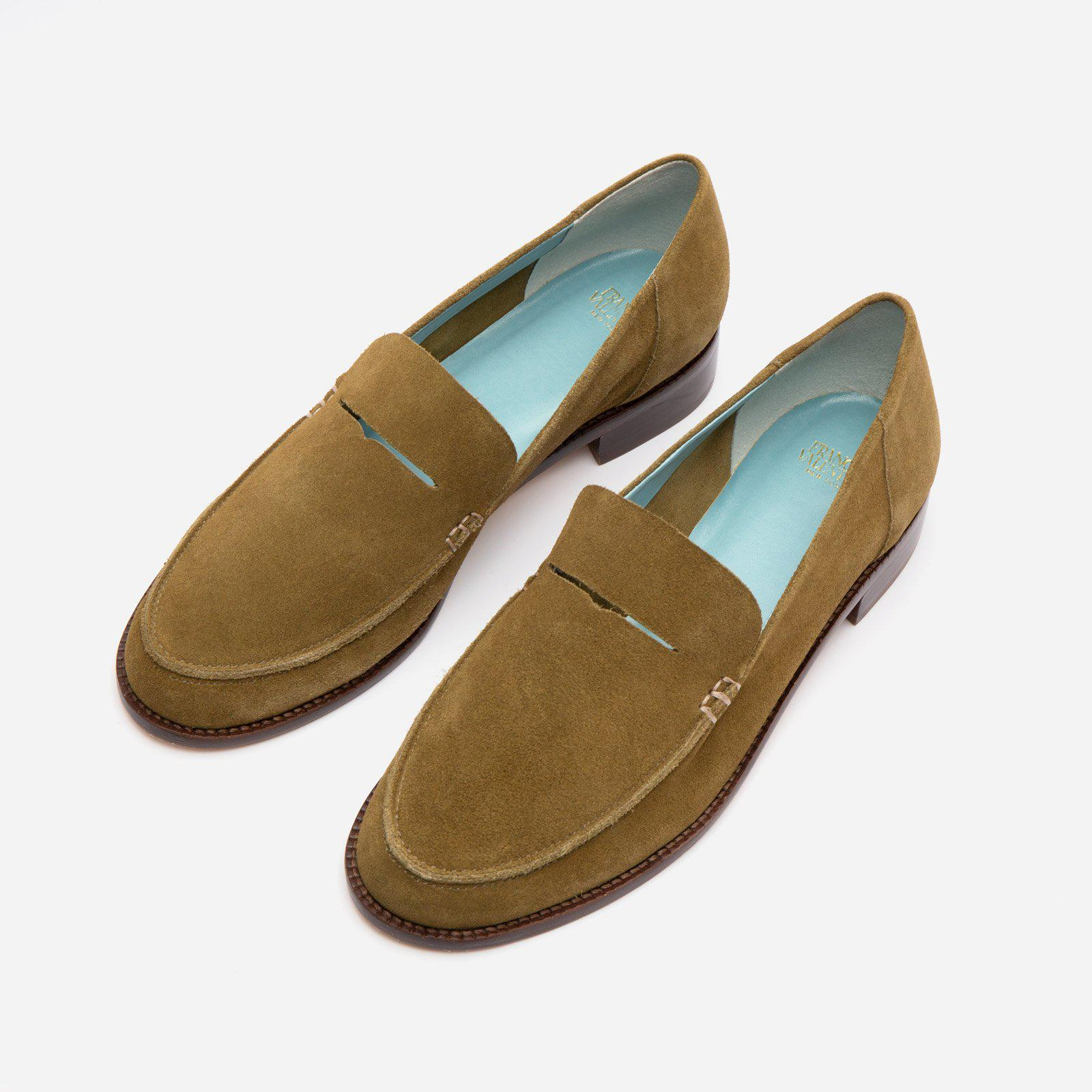 Penny Loafer Suede Moss 3