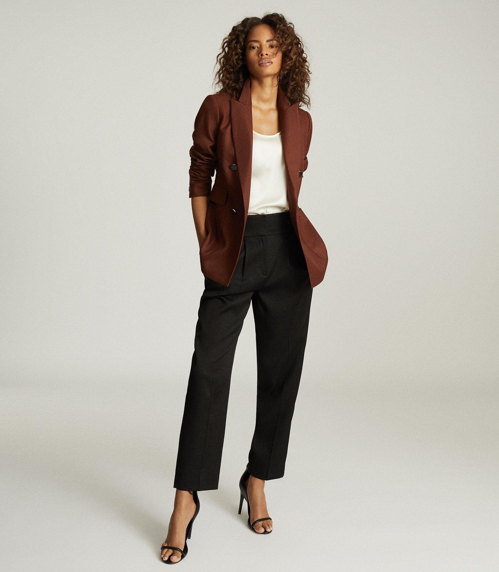 FINLEY - DOUBLE BREASTED TWILL BLAZER