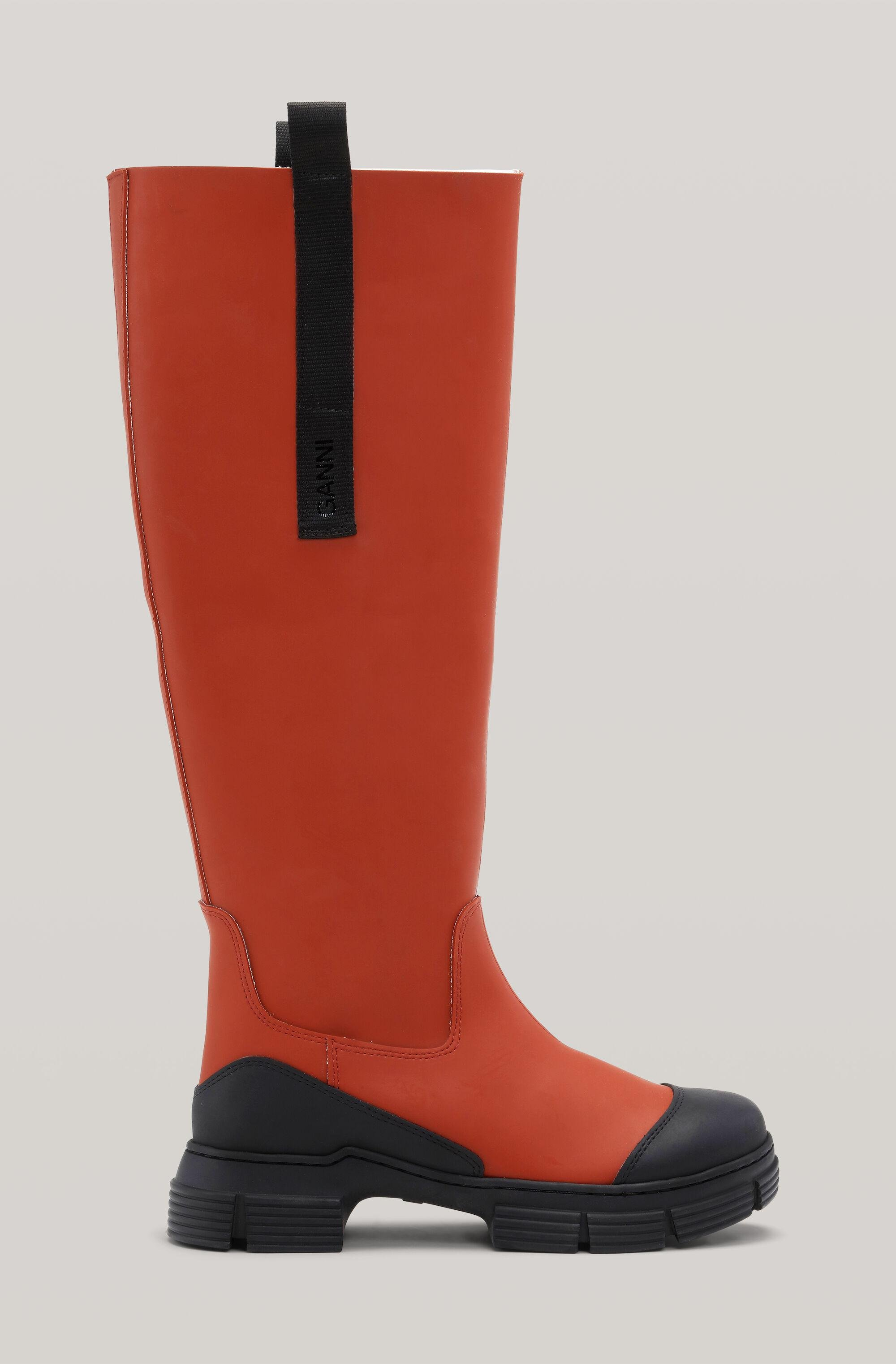 Recycled Rubber Knee Country Boots