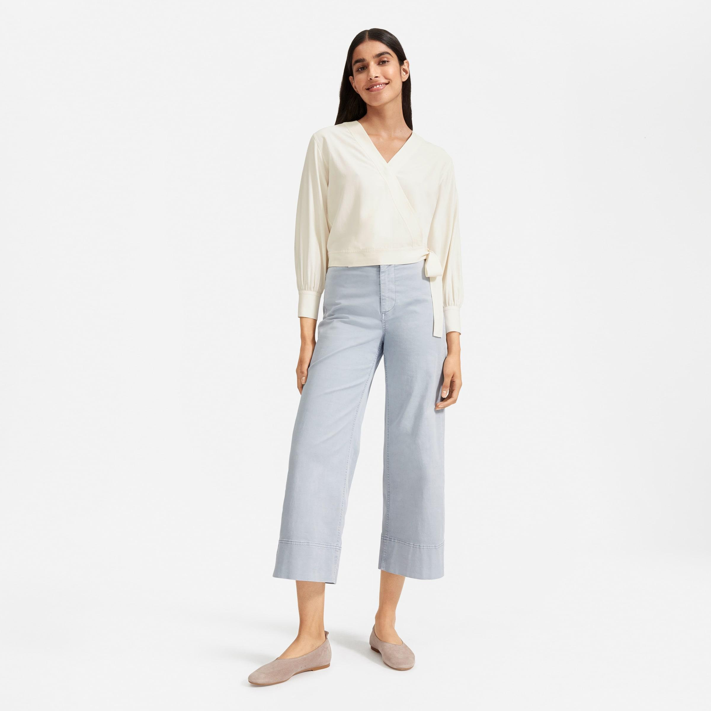 The Washable Silk Wrap Top