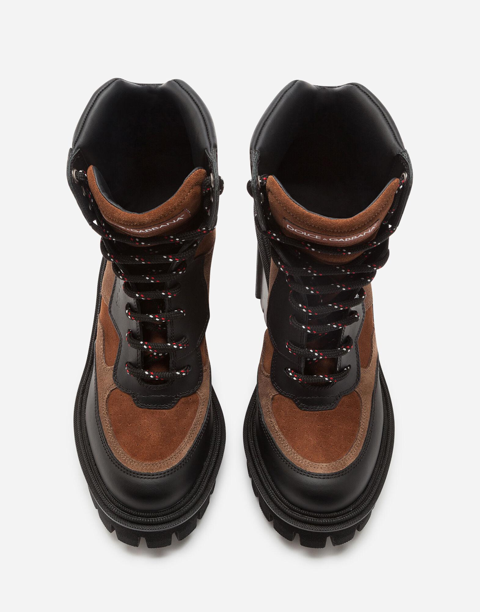 Trekking boots in two-tone mixed materials 3