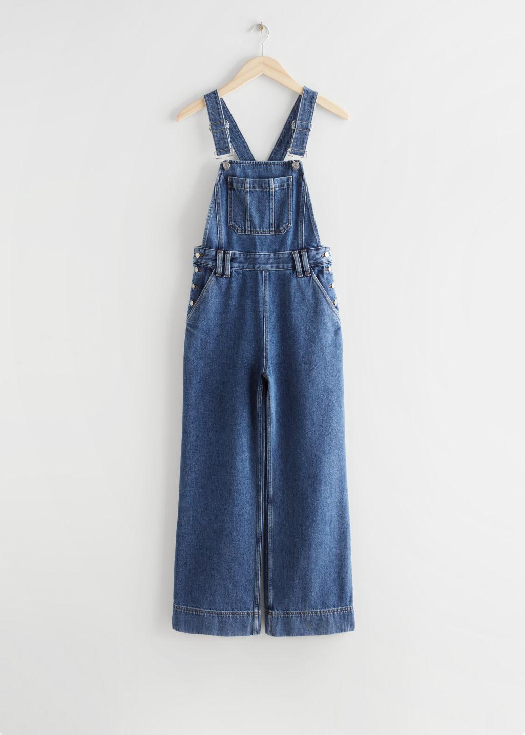 Relaxed Denim Dungarees