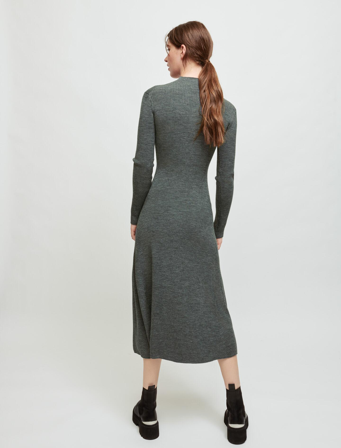 KNITTED SLIT DRESS WITH PIERCINGS 4
