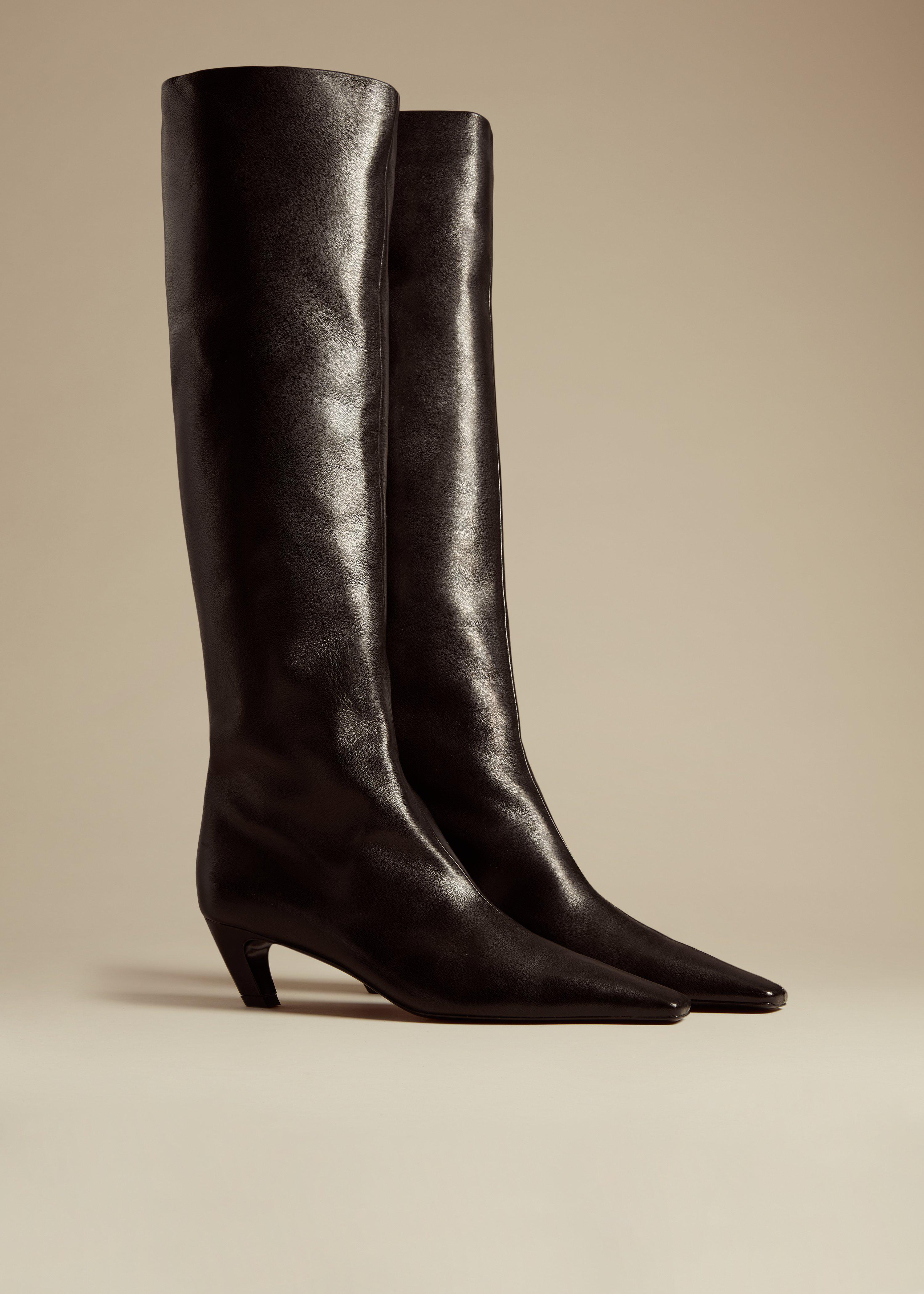 The Davis Boot in Black Leather