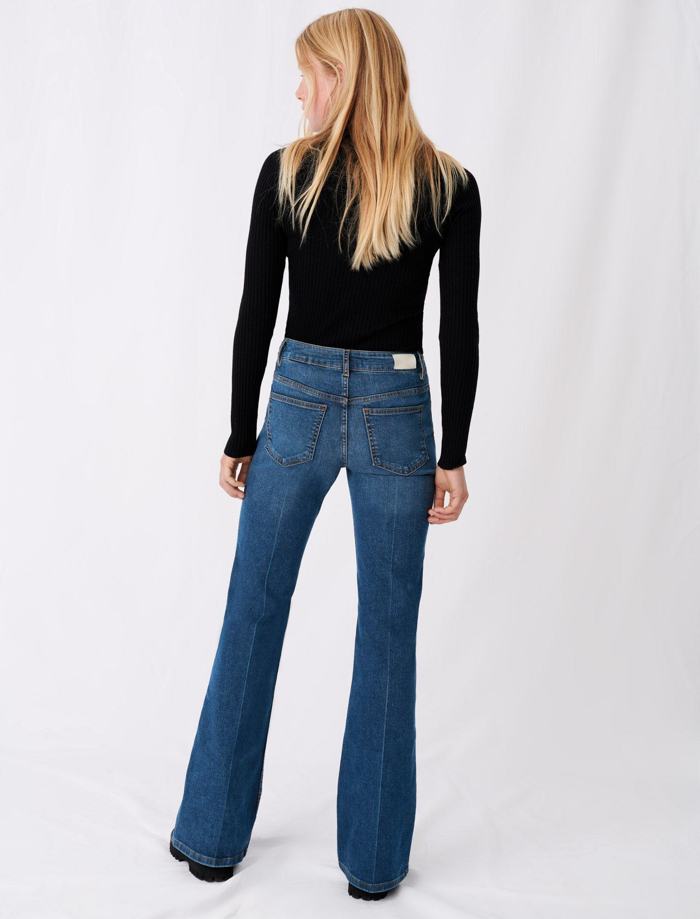 FLARED JEANS WITH HORSEBIT DETAIL 2