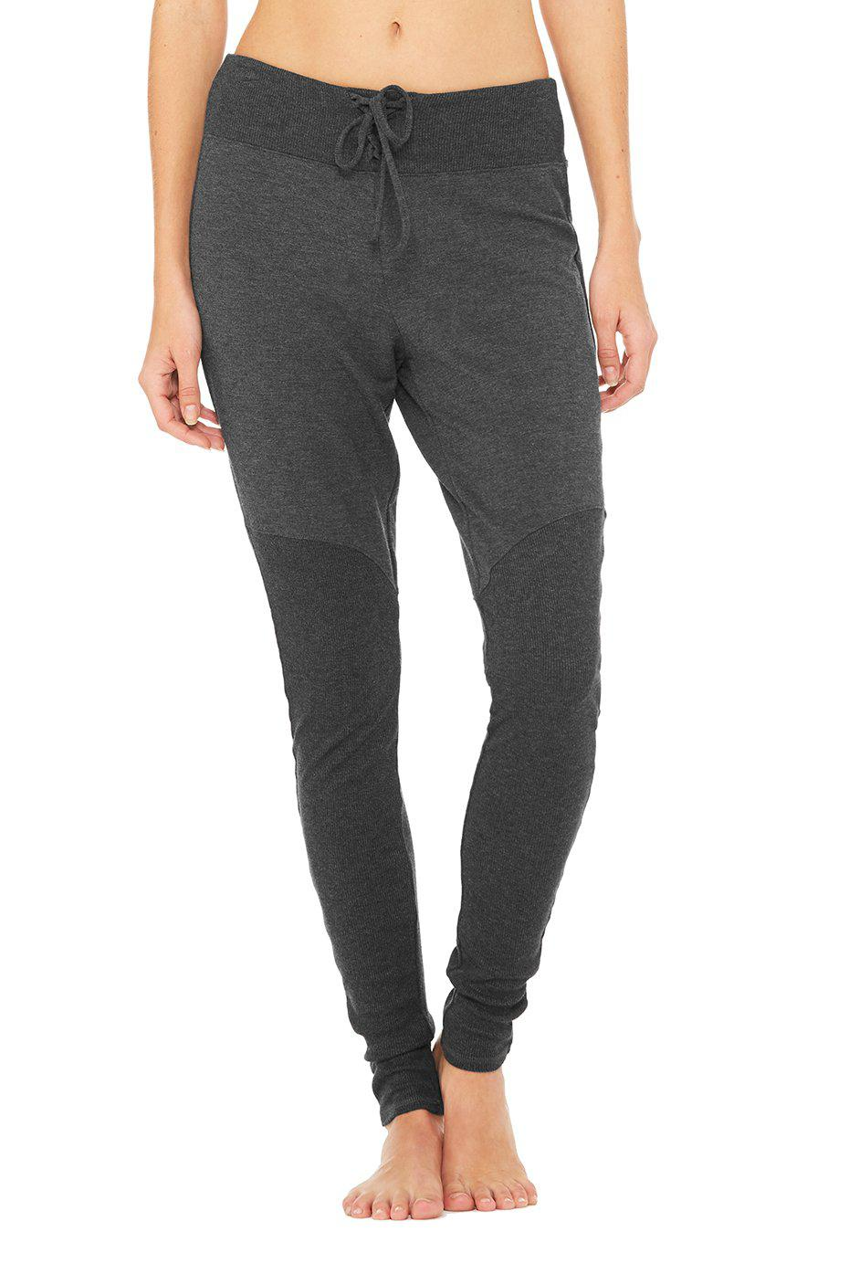 Lace Up Pant - Charcoal Heather