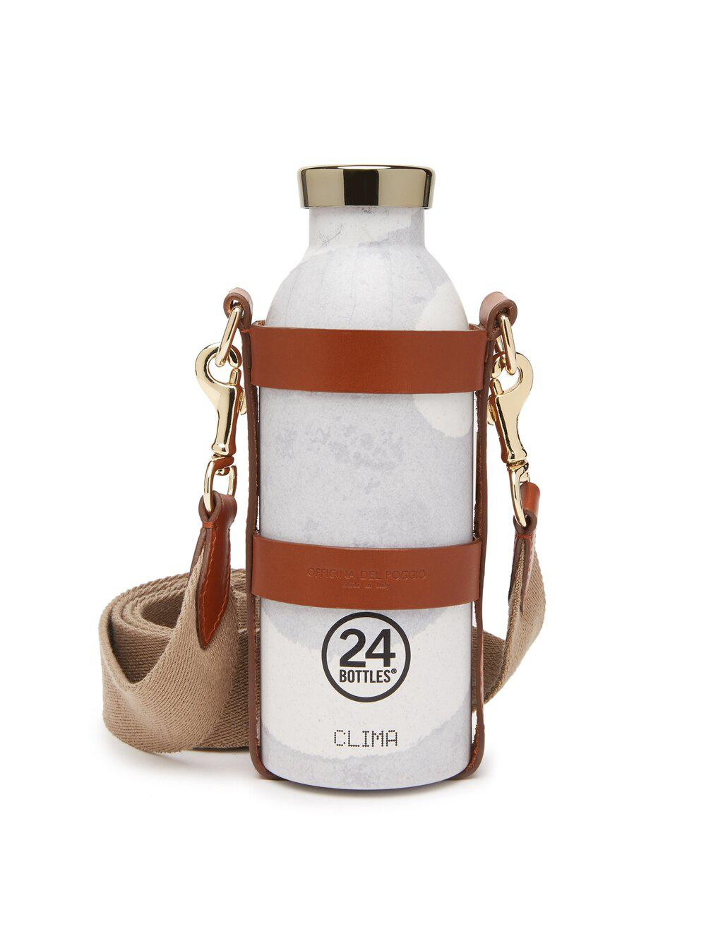 NEW Bottle Bag with Bottle - Tan Leather