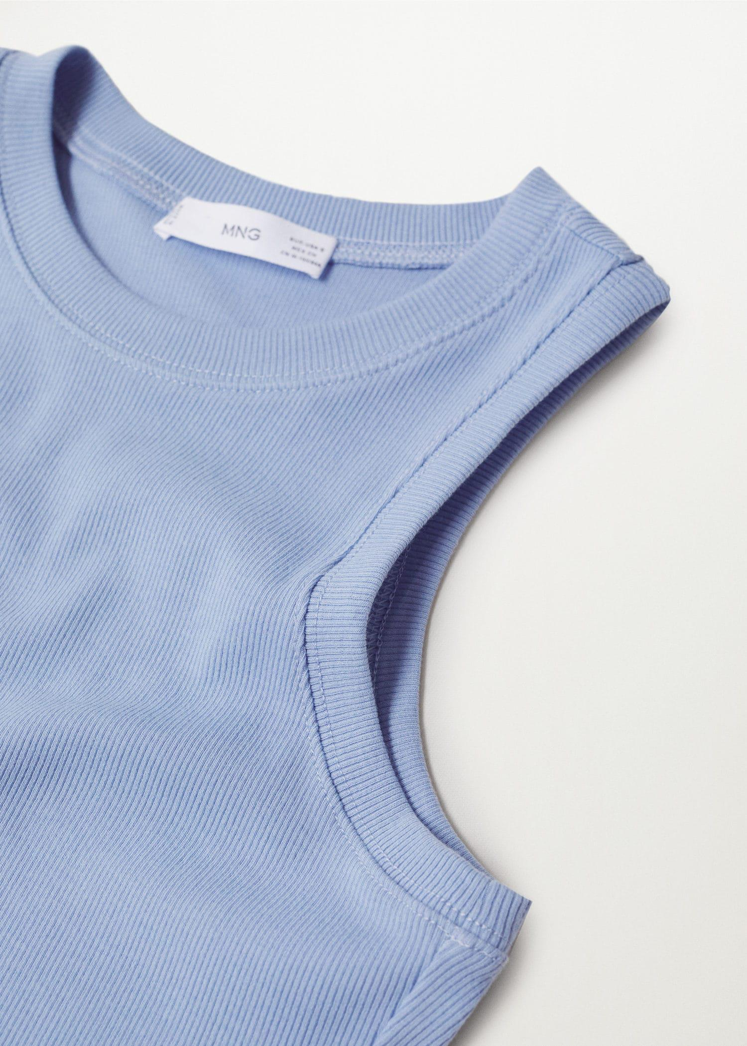 Ribbed cotton-blend top 6