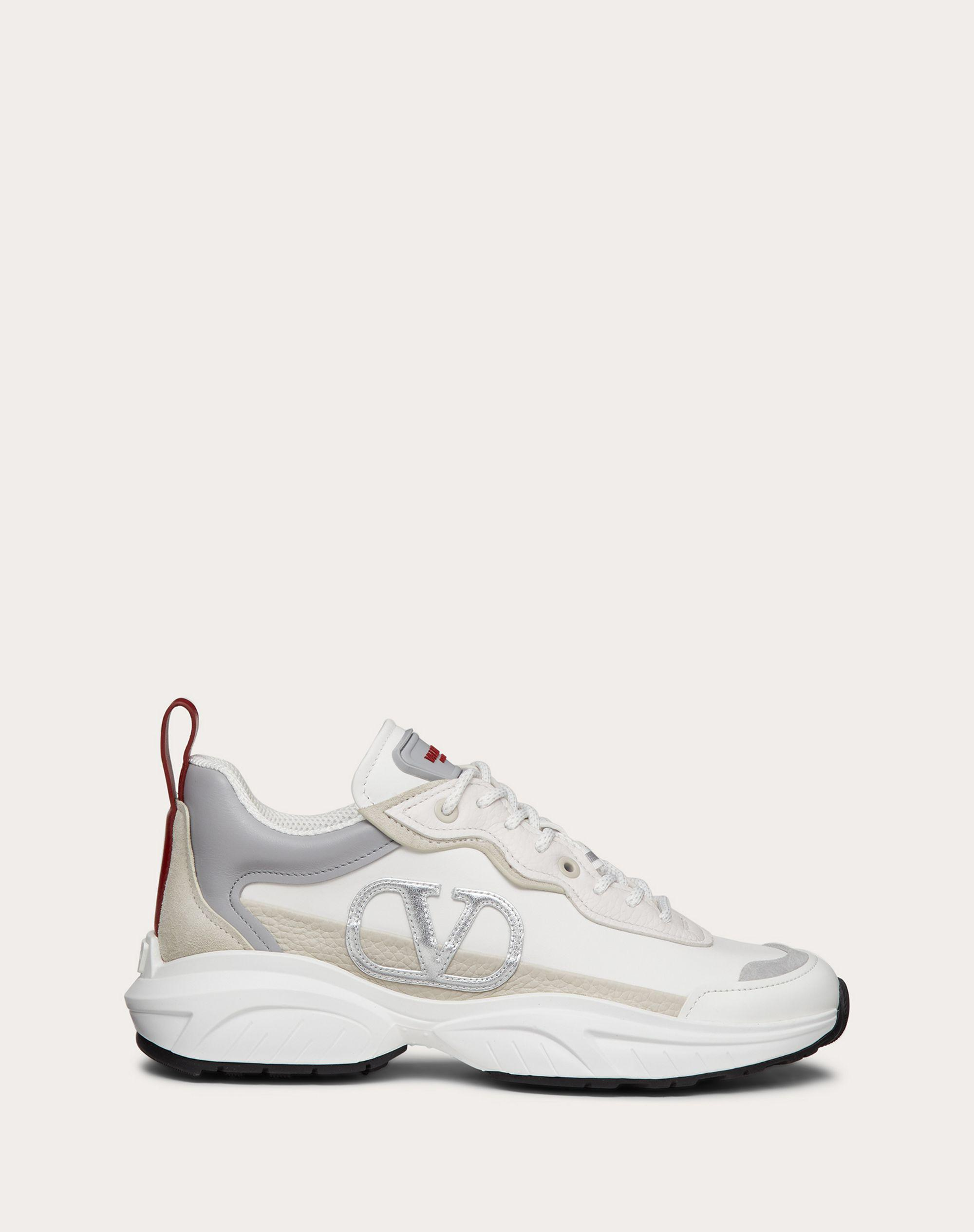 SHEGOES Sneaker in split leather and calfskin leather