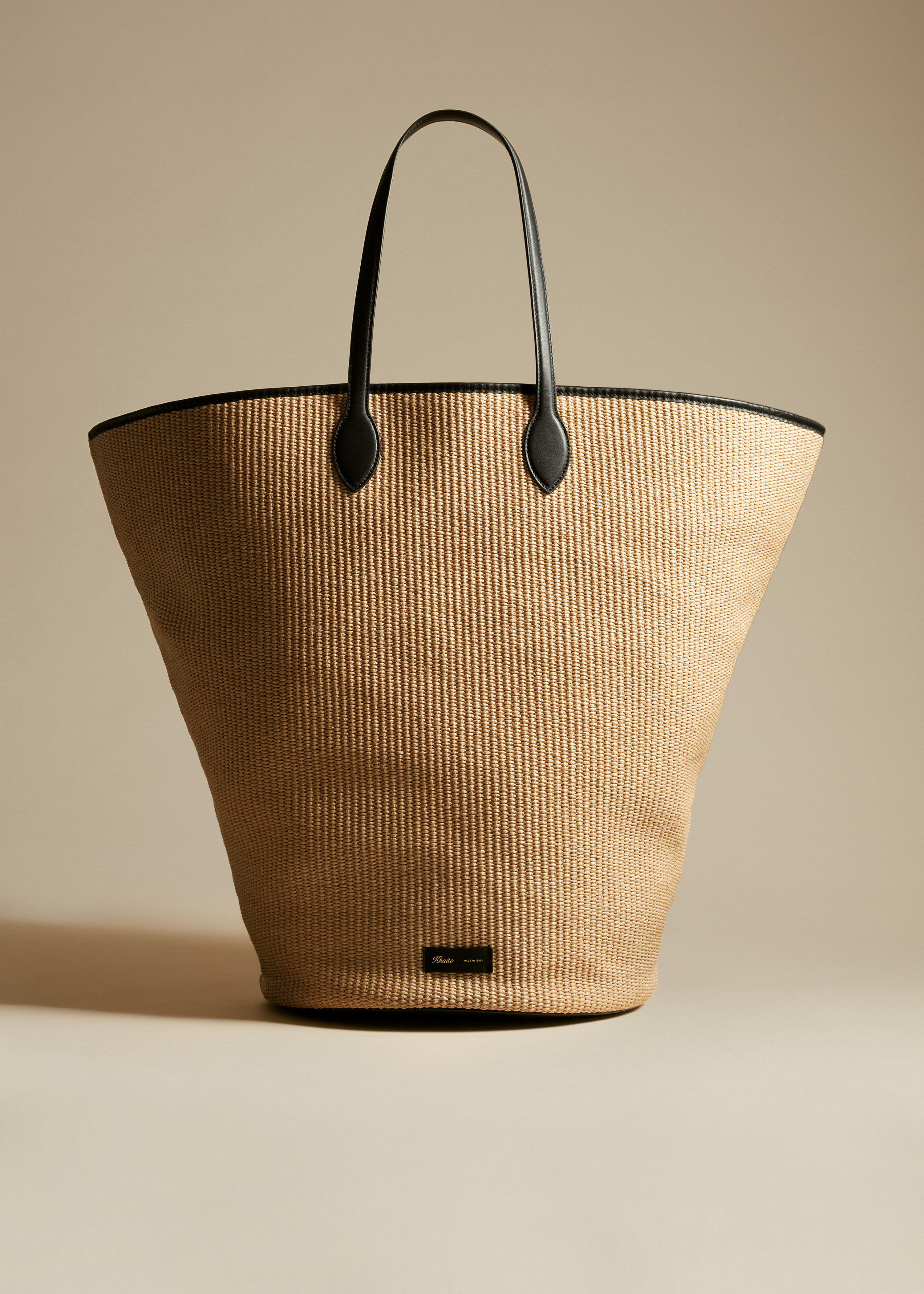 The Large Osa Tote in Natural Raffia