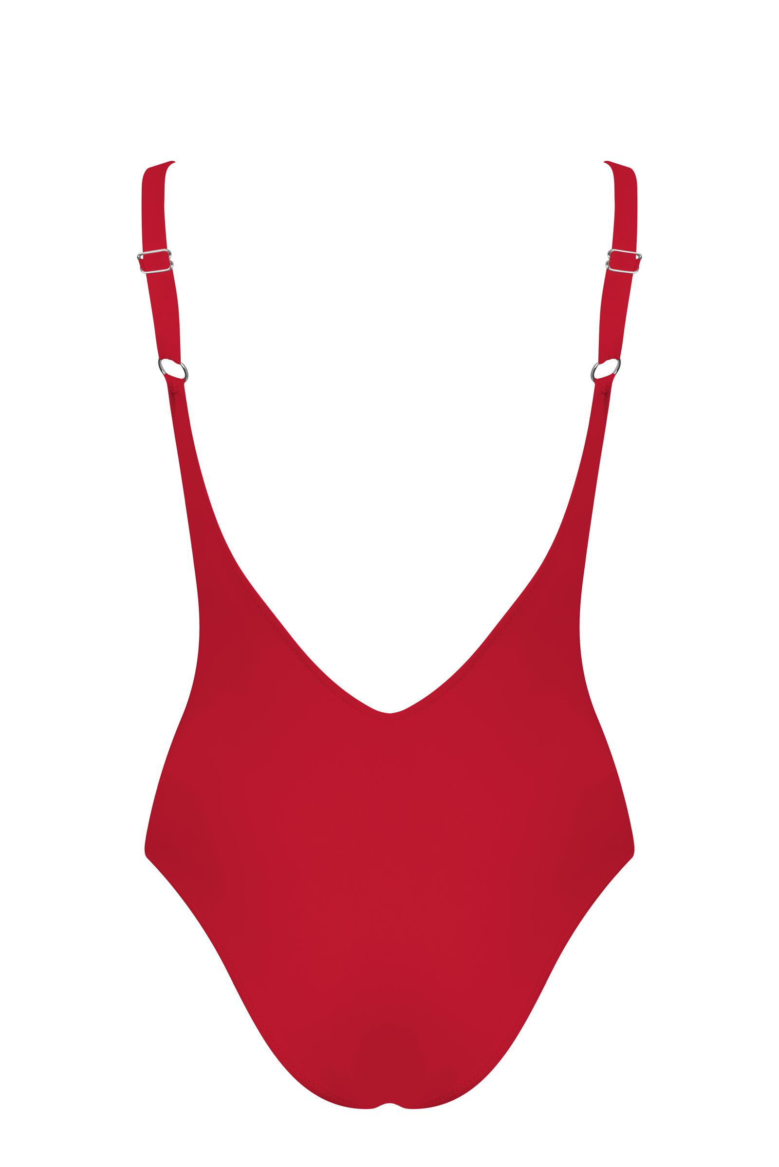 St Martin Bandage colour block one piece Red 2