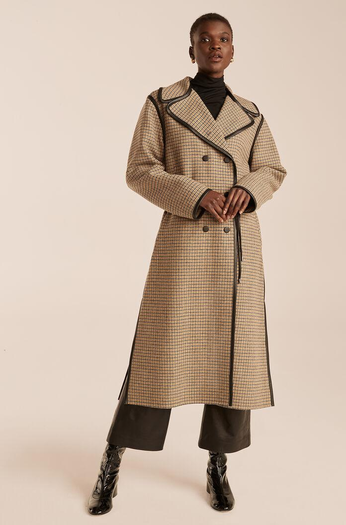 DOUBLE FACED WOOL TRENCH COAT