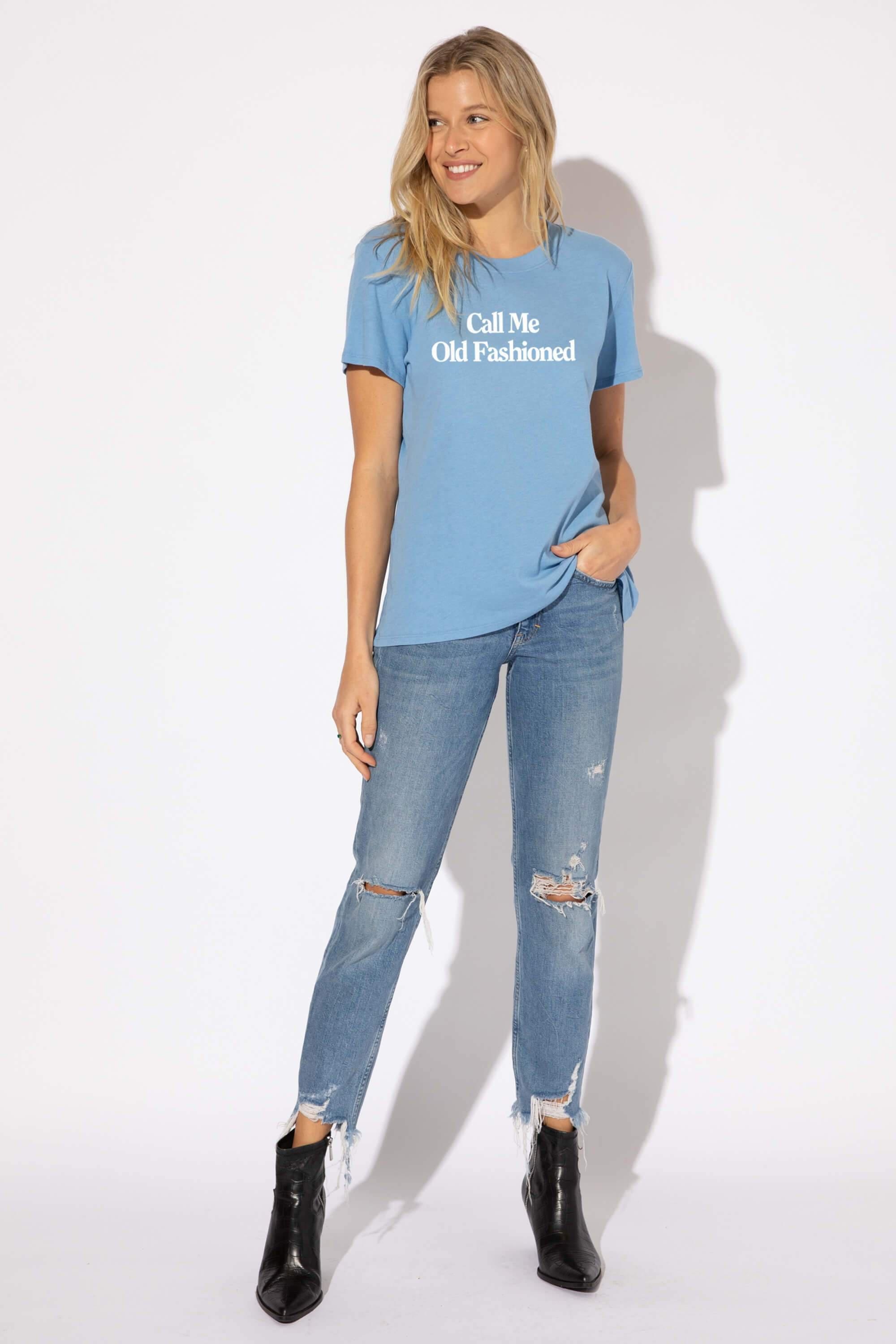 CALL ME OLD FASHIONED LOOSE TEE 2