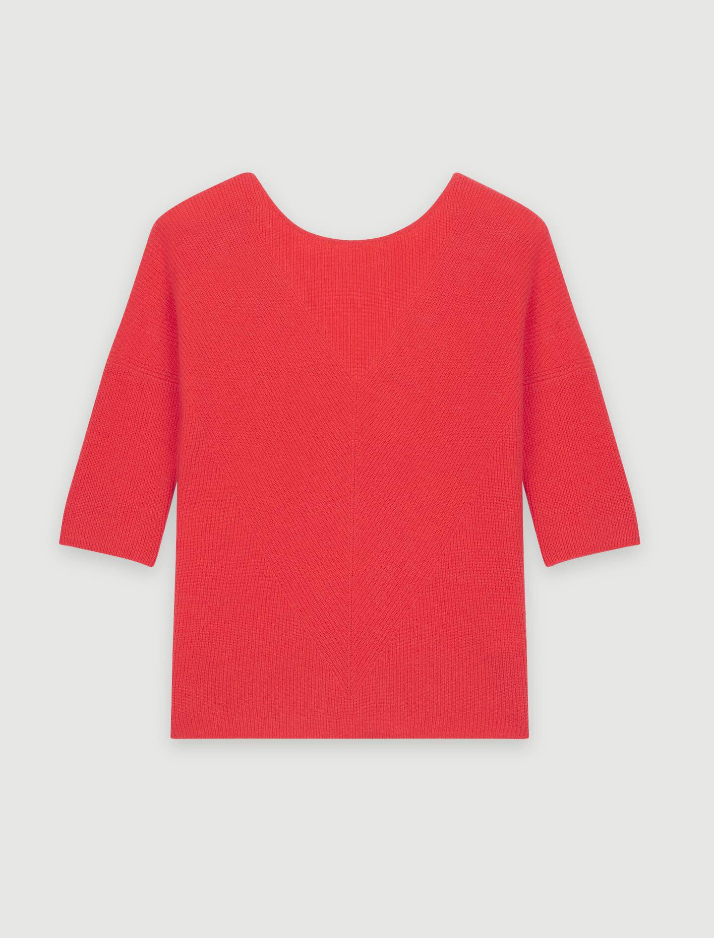 LOW-BACK CASHMERE SWEATER 4