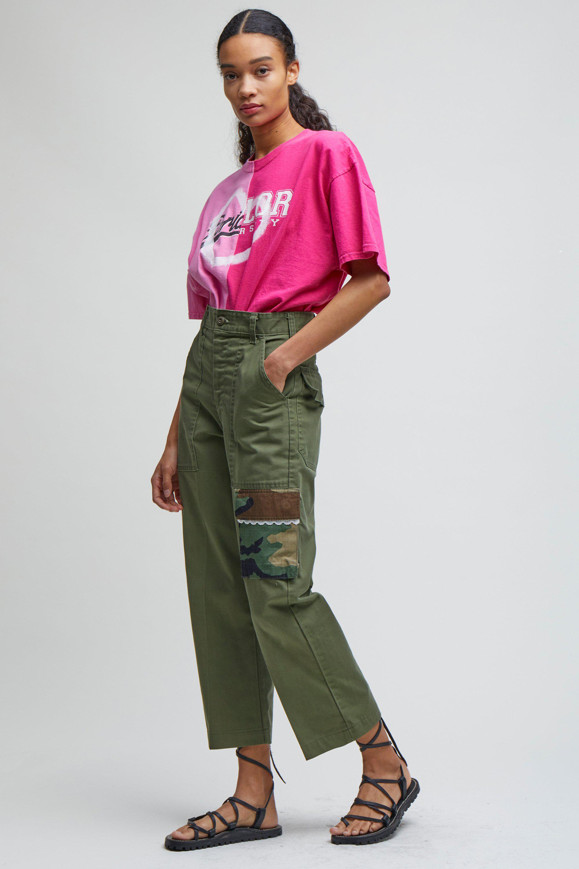 CROPPED CARGO TROUSERS - XS 2