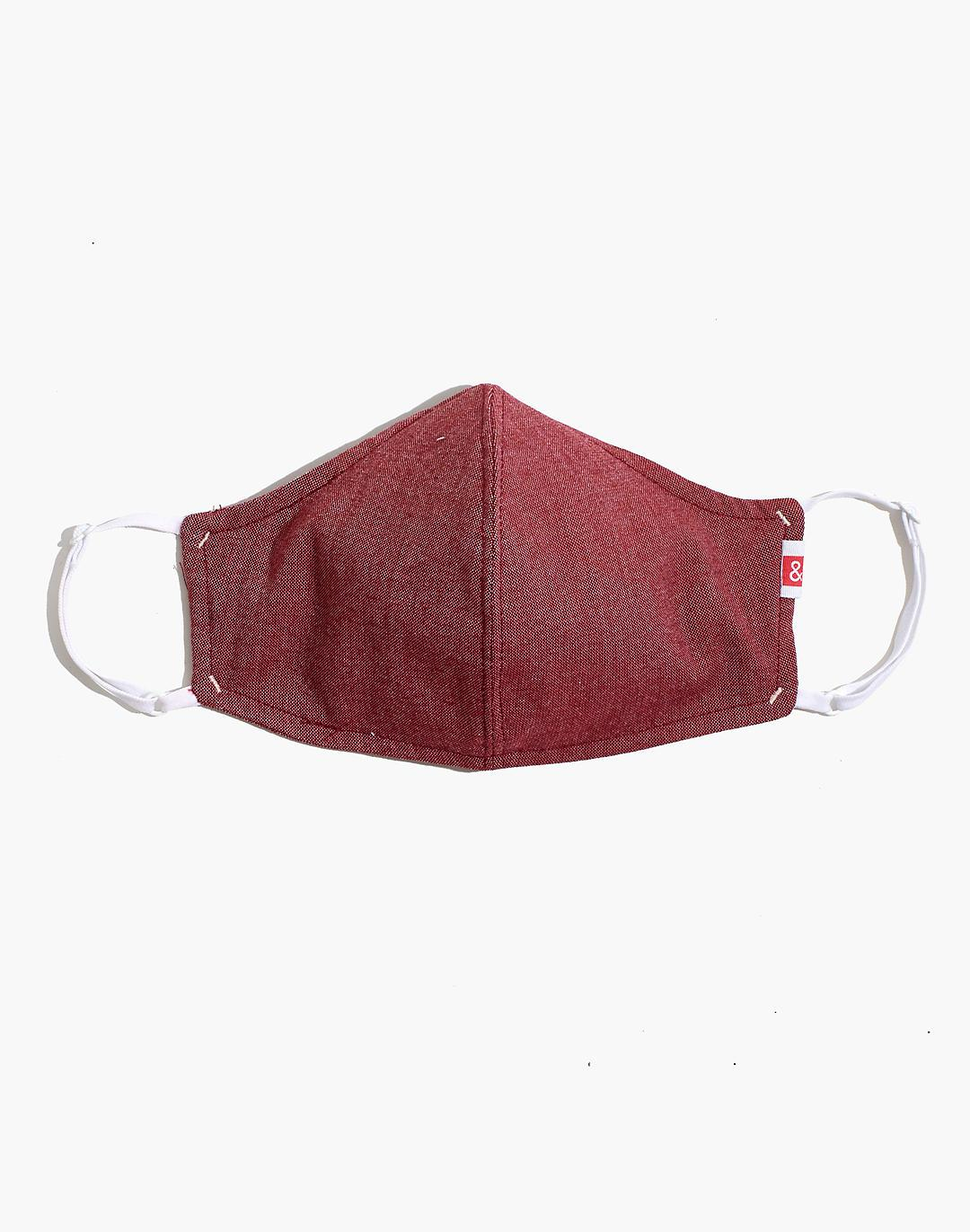 Hedley & Bennett Face Mask in Red Oxford