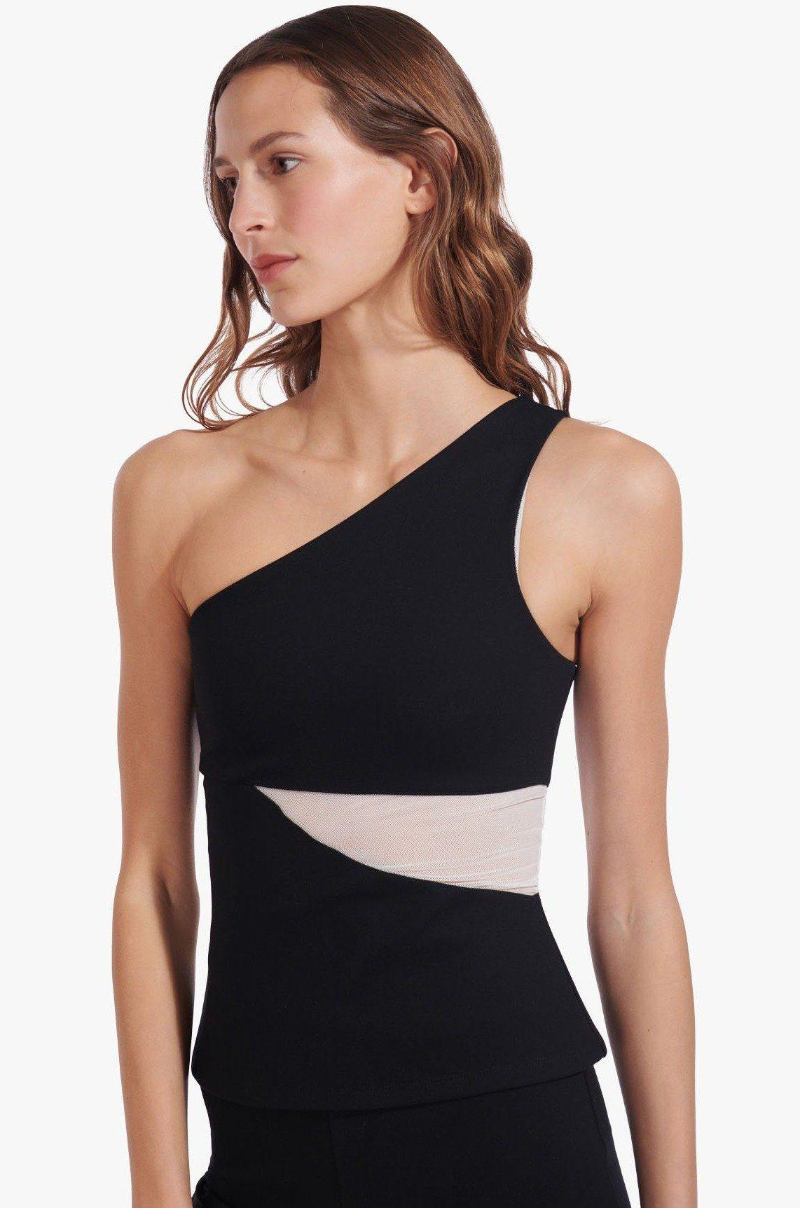 AETHER TOP | BLACK WHITE