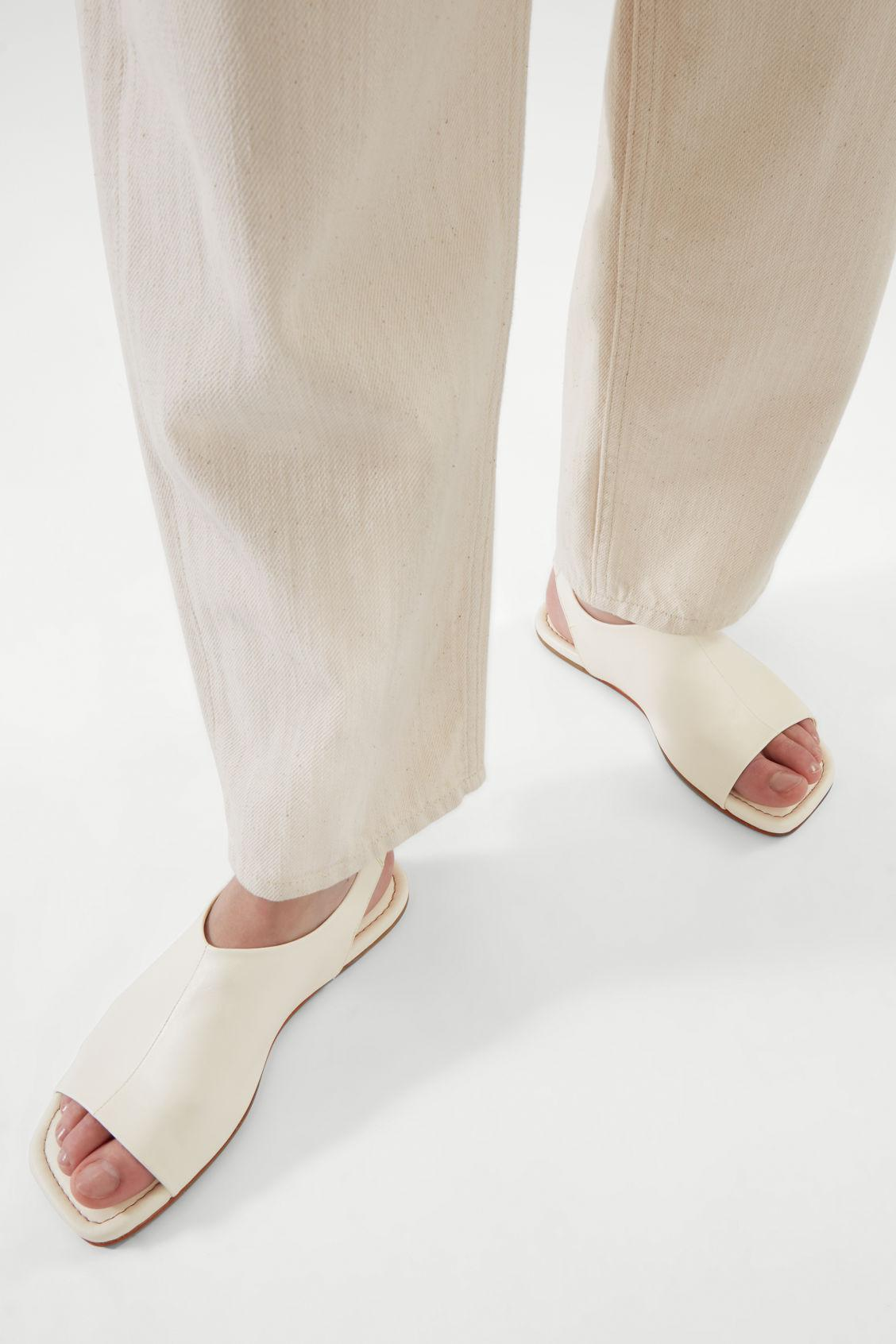 LEATHER OPEN-TOE SANDALS 4