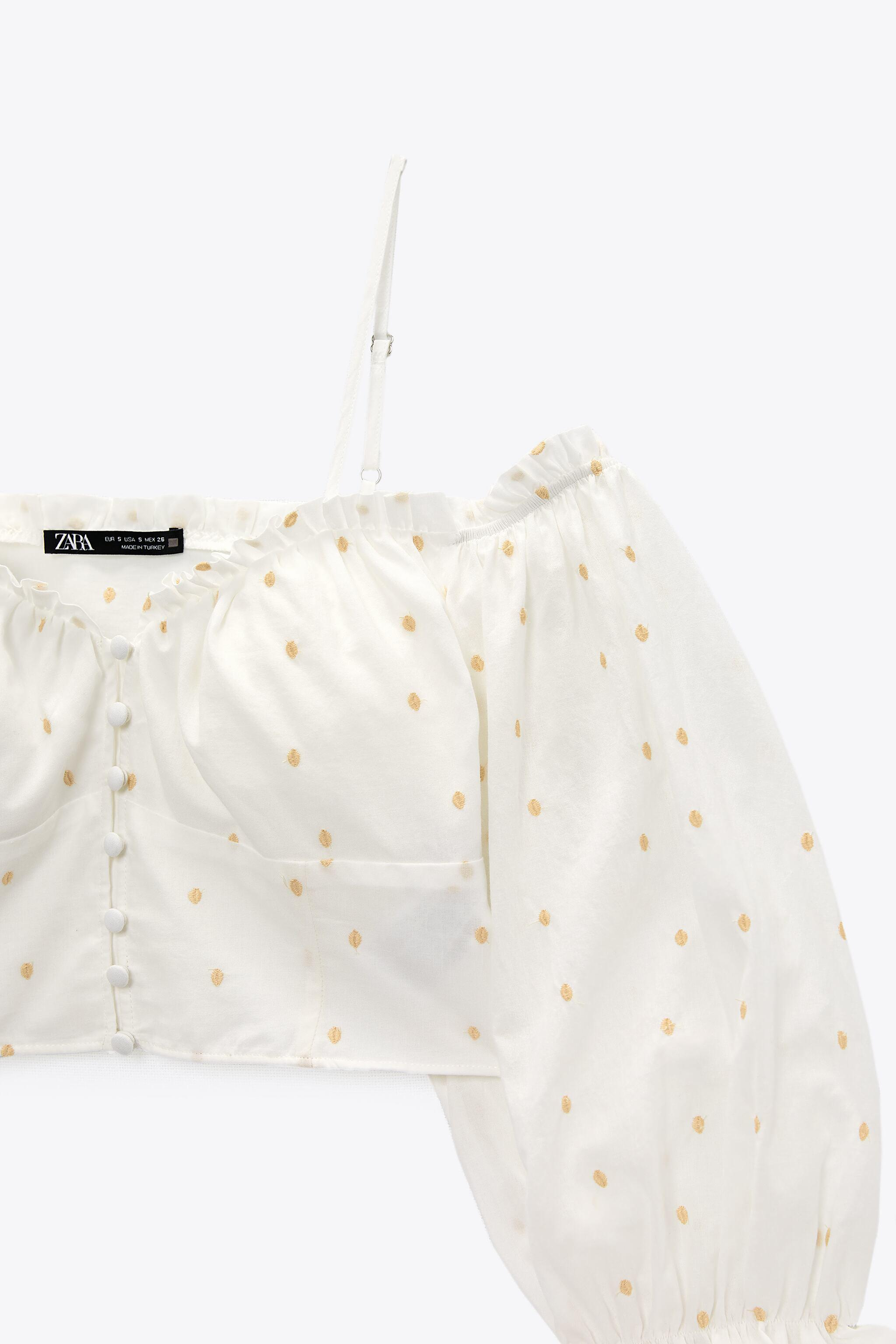 EMBROIDERED DOTTED MESH TOP 6