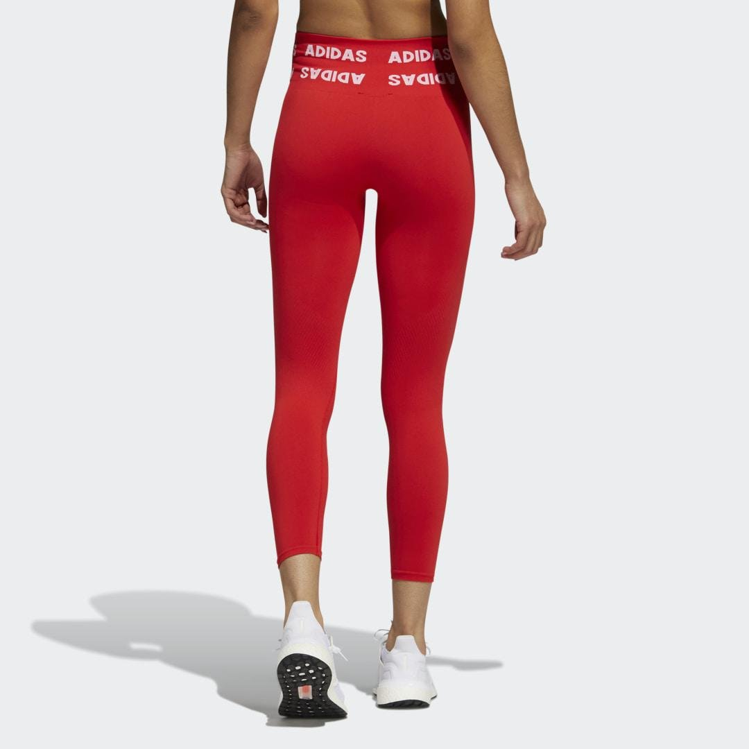 Training Aeroknit 7/8 High-Rise Tights Red 1