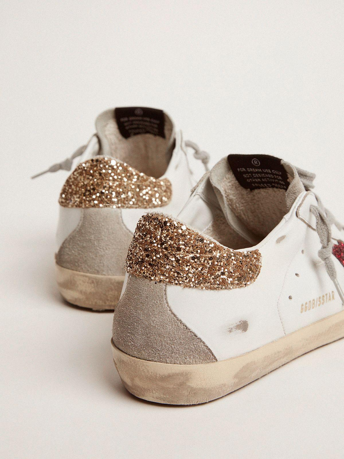 Super-Star sneakers with colored glitter star and heel tab 3