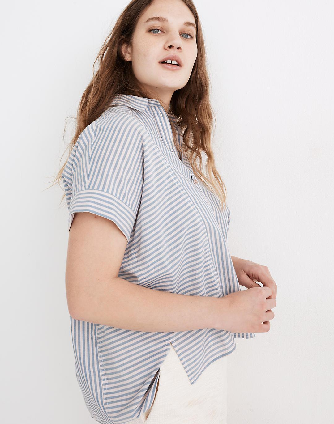 Lakeline Button-Up Shirt in Stripe-Play 1