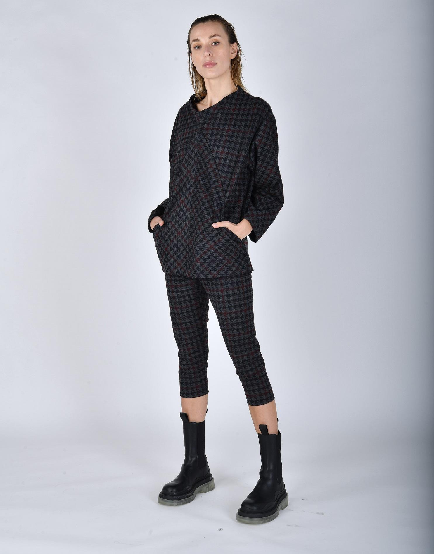 Checked jersey sporty set