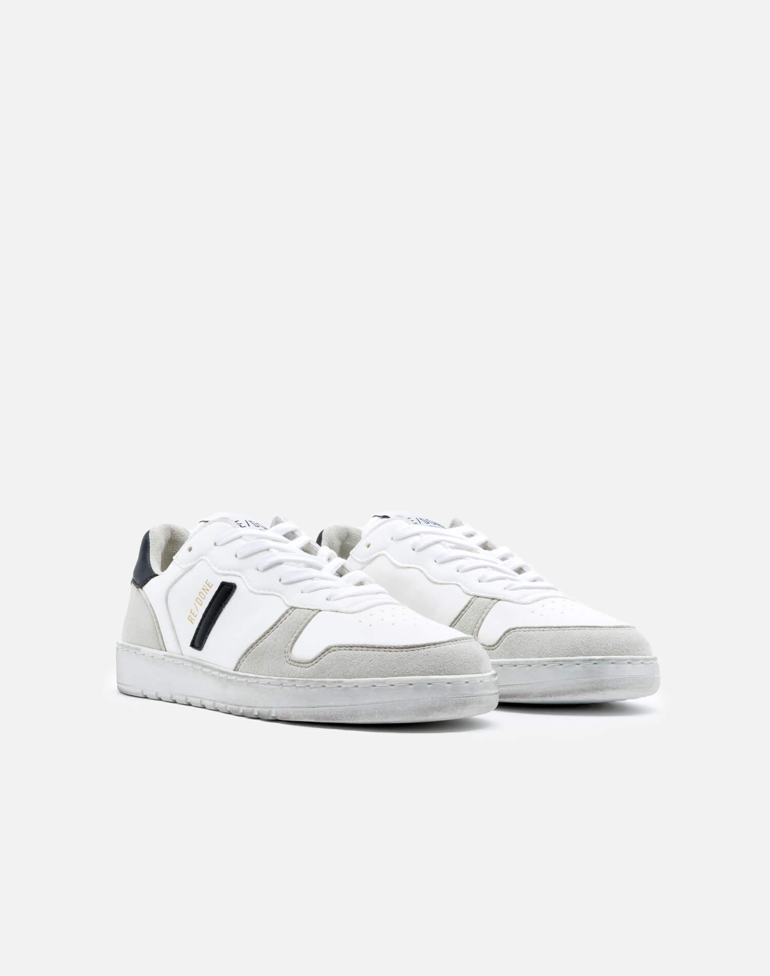 80s Sustainable Basketball Shoe - White and Black 1