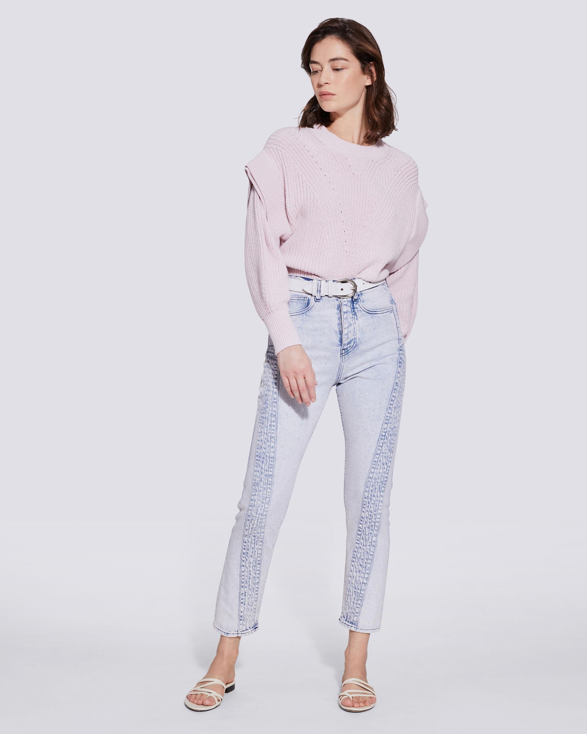 INAHE MOTO INSPIRED CROPPED SKINNY JEANS