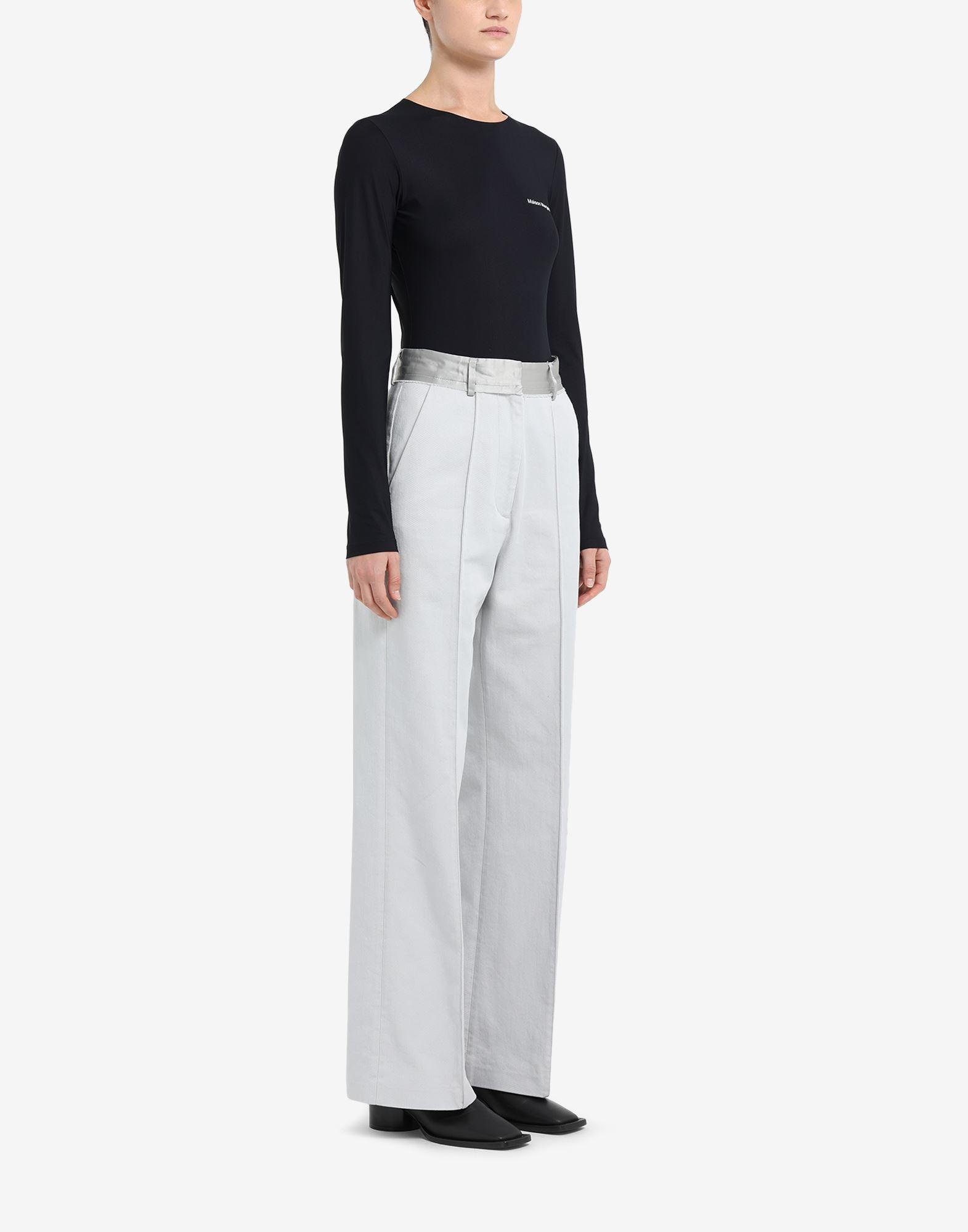 Spliced cotton trousers 1