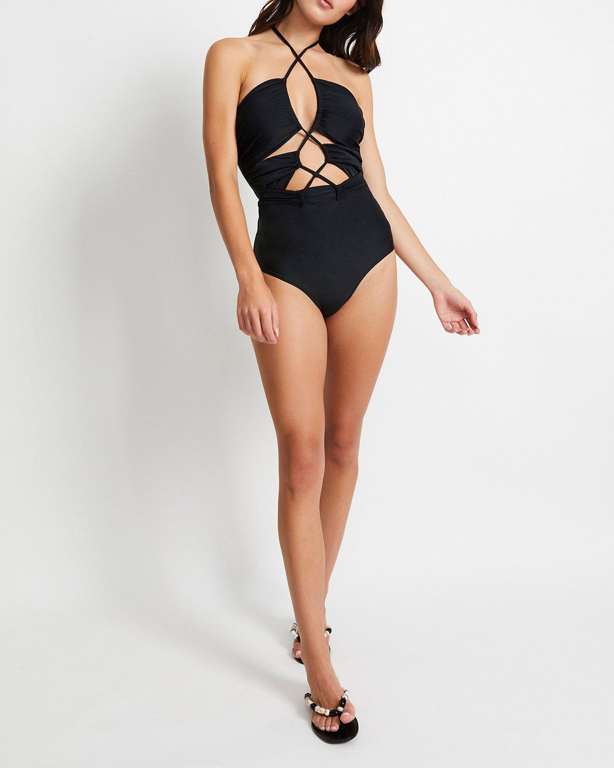 Laceup One Piece Swimsuit
