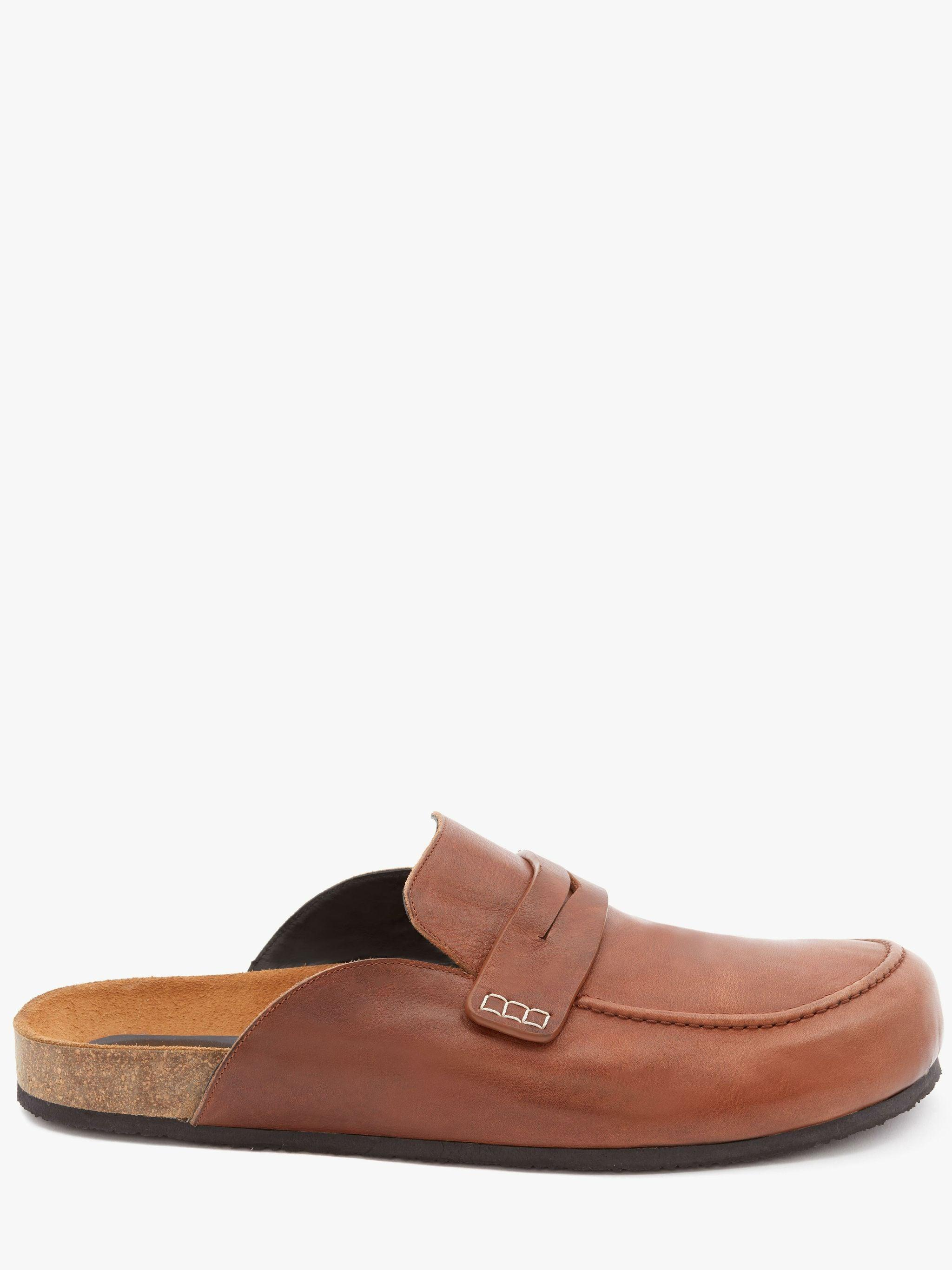 LEATHER LOAFER MULES