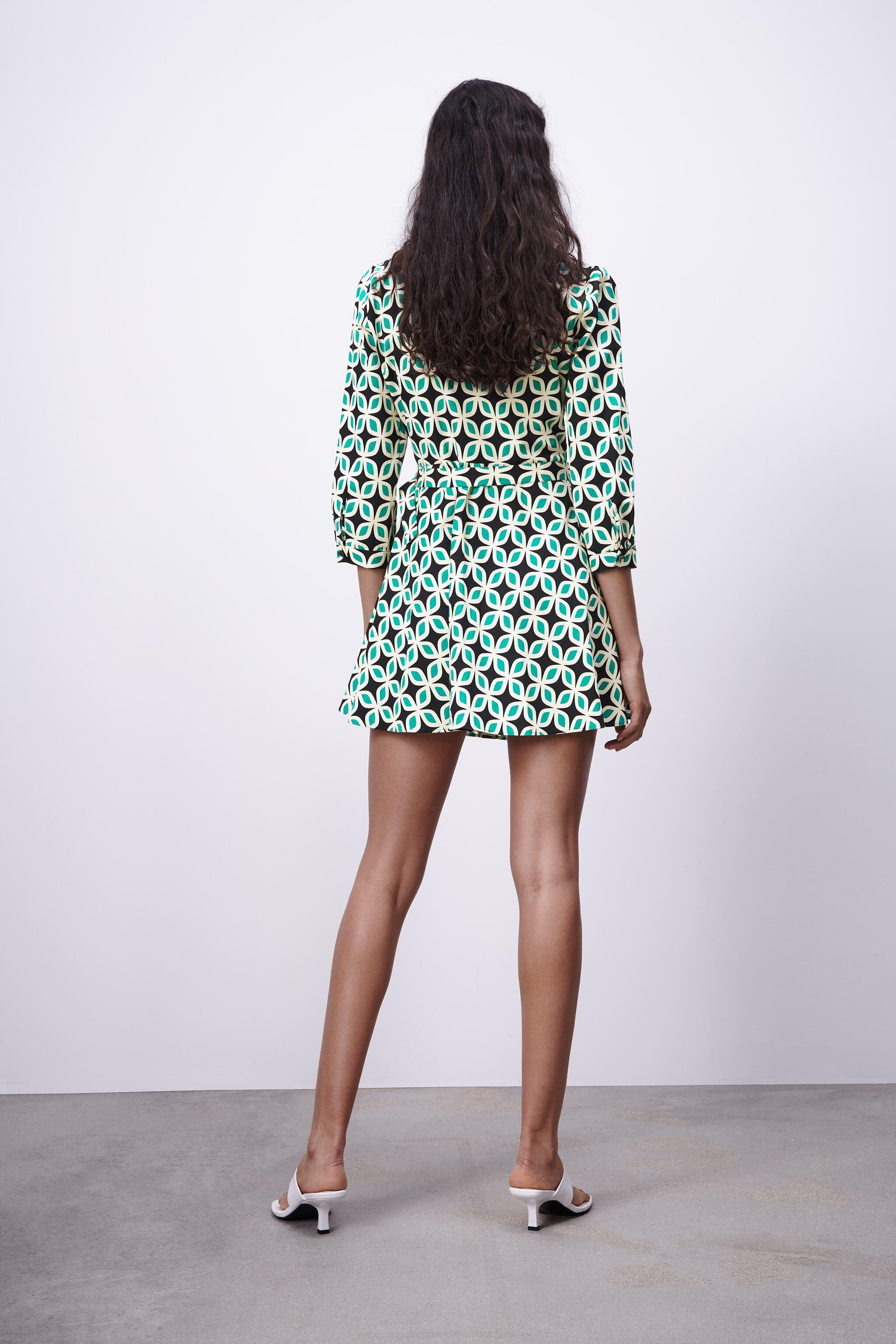 PRINTED DRESS WITH BELT 4