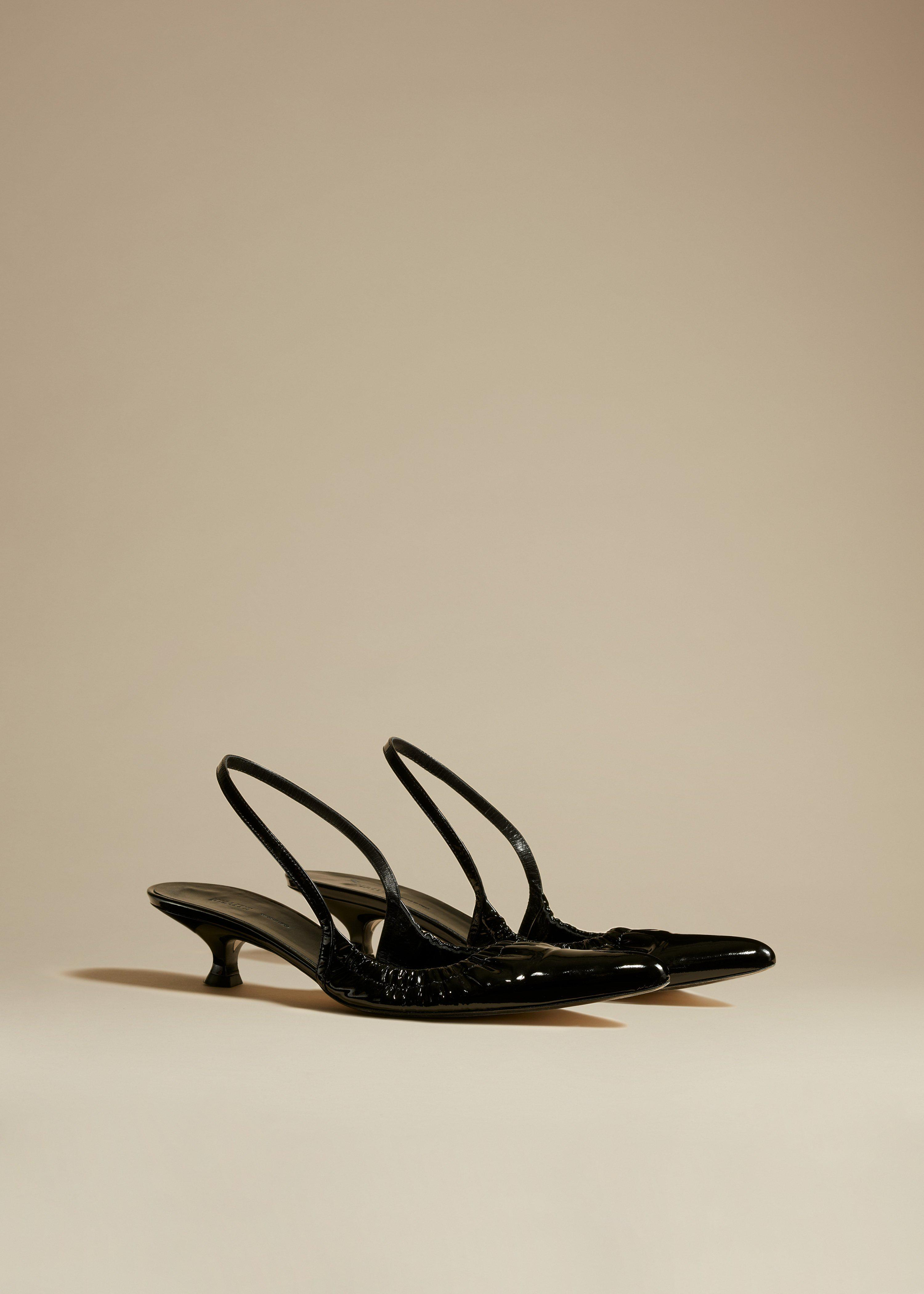 The Athens Pump in Black Patent Leather 1