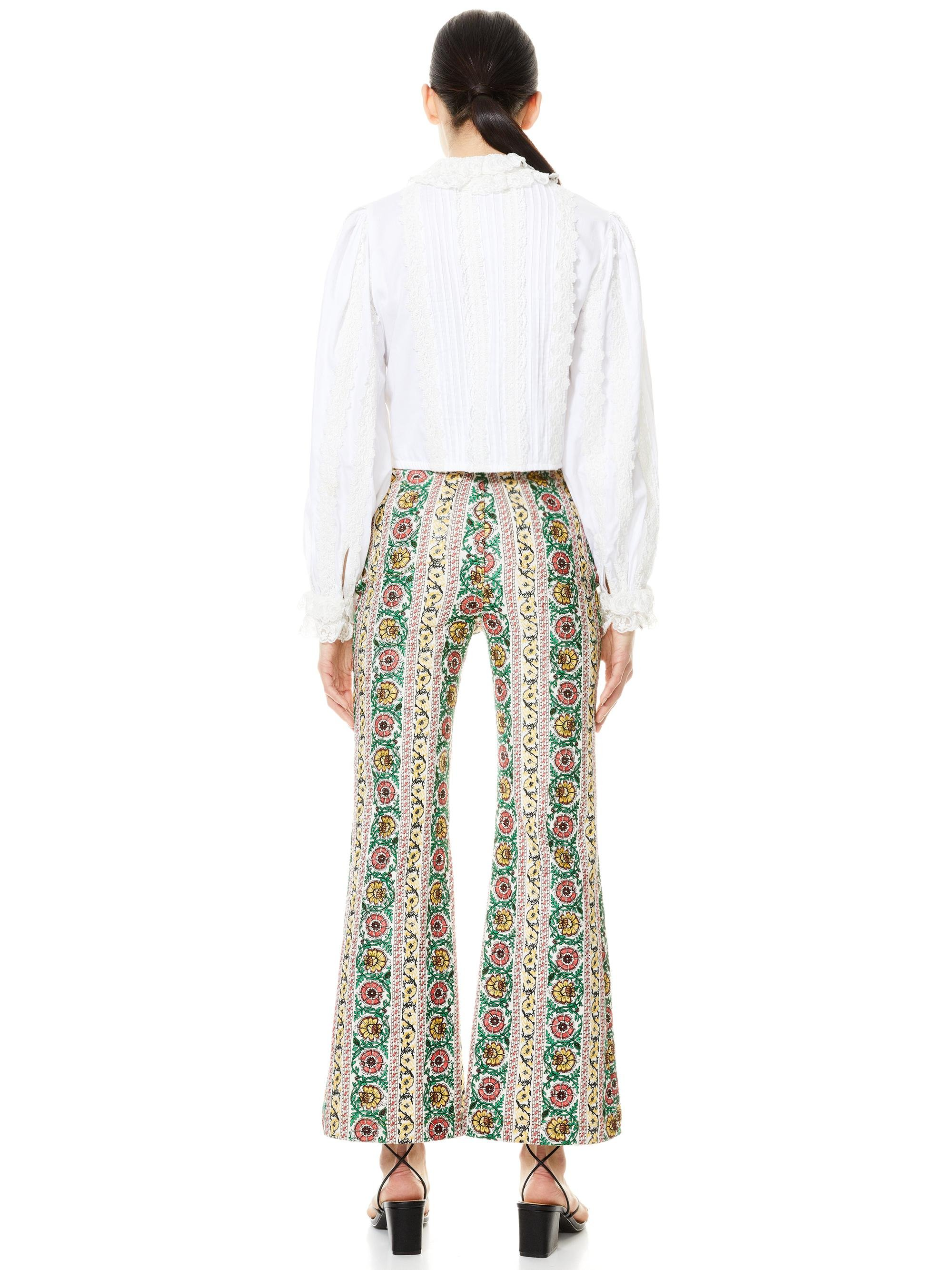BENEDICT EMBROIDERED FLARE PANT 1