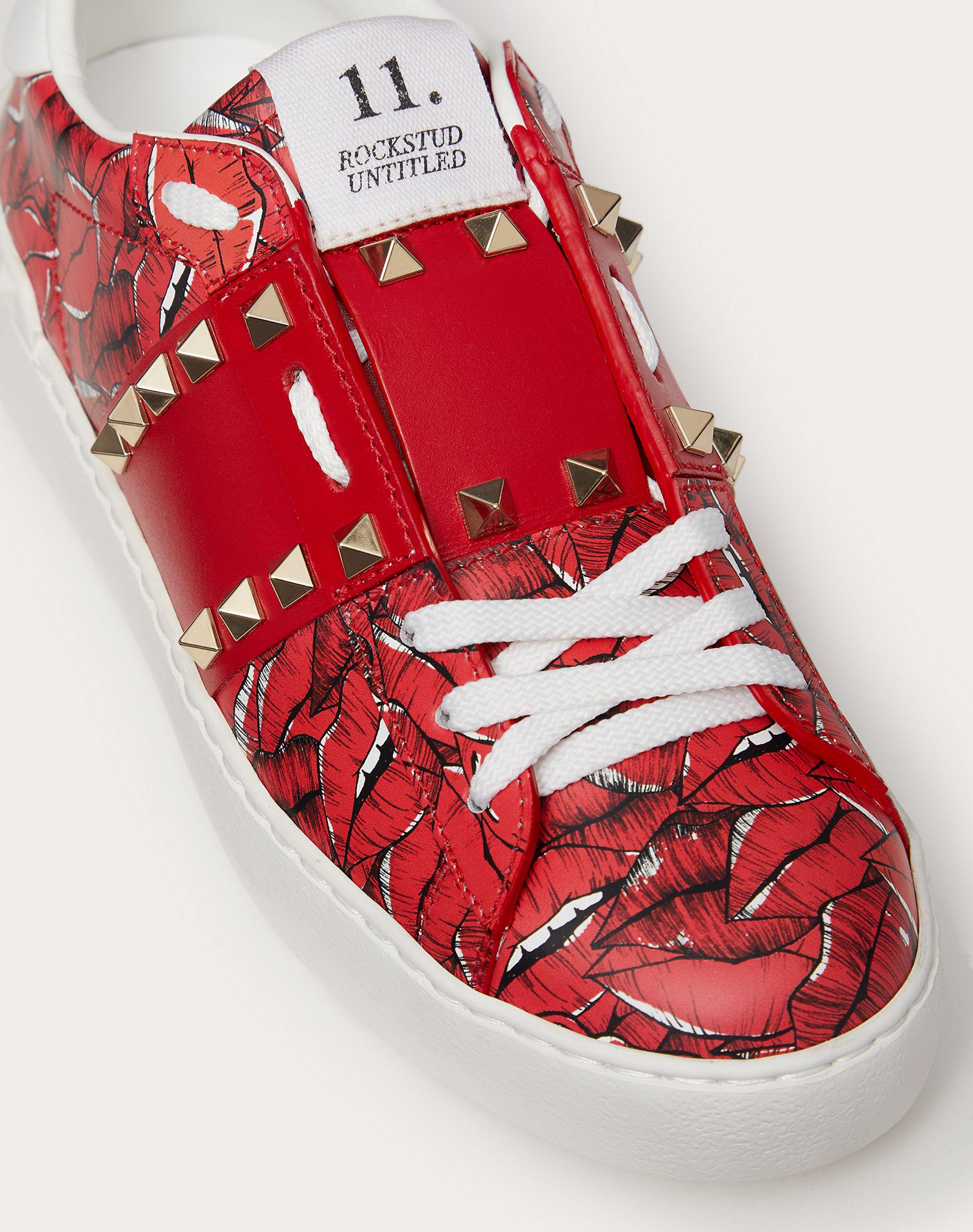 Rockstud Untitled Sneaker with print 4